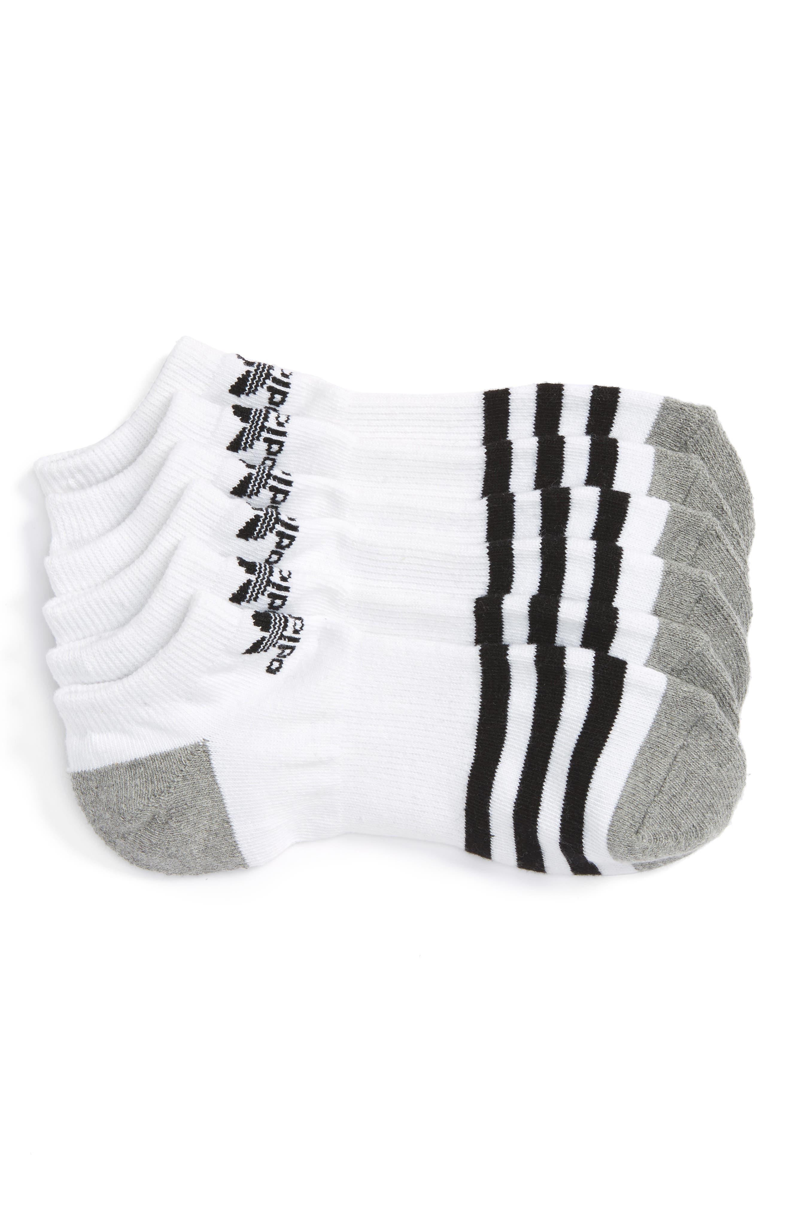 3-Pack Original Cushioned No-Show Socks,                             Main thumbnail 1, color,                             White/ Black/ White