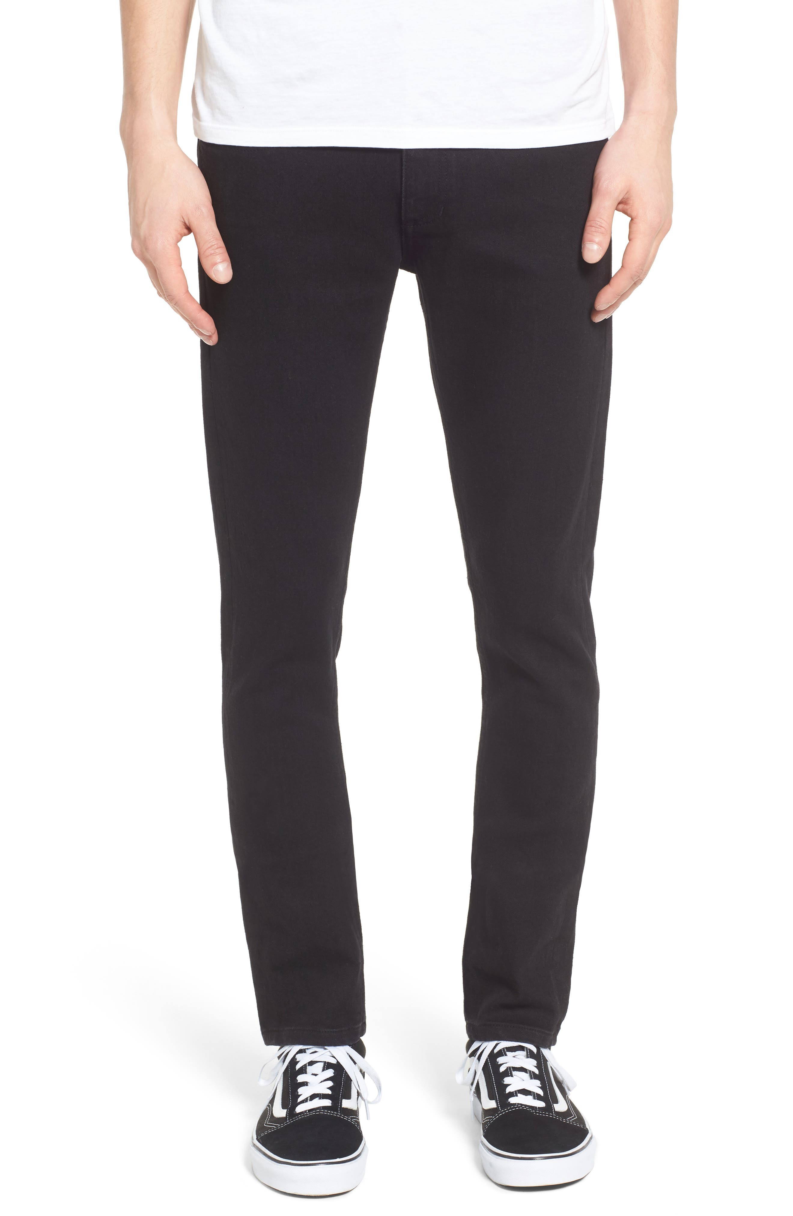 Juvee II Skinny Fit Jeans,                             Main thumbnail 1, color,                             Black