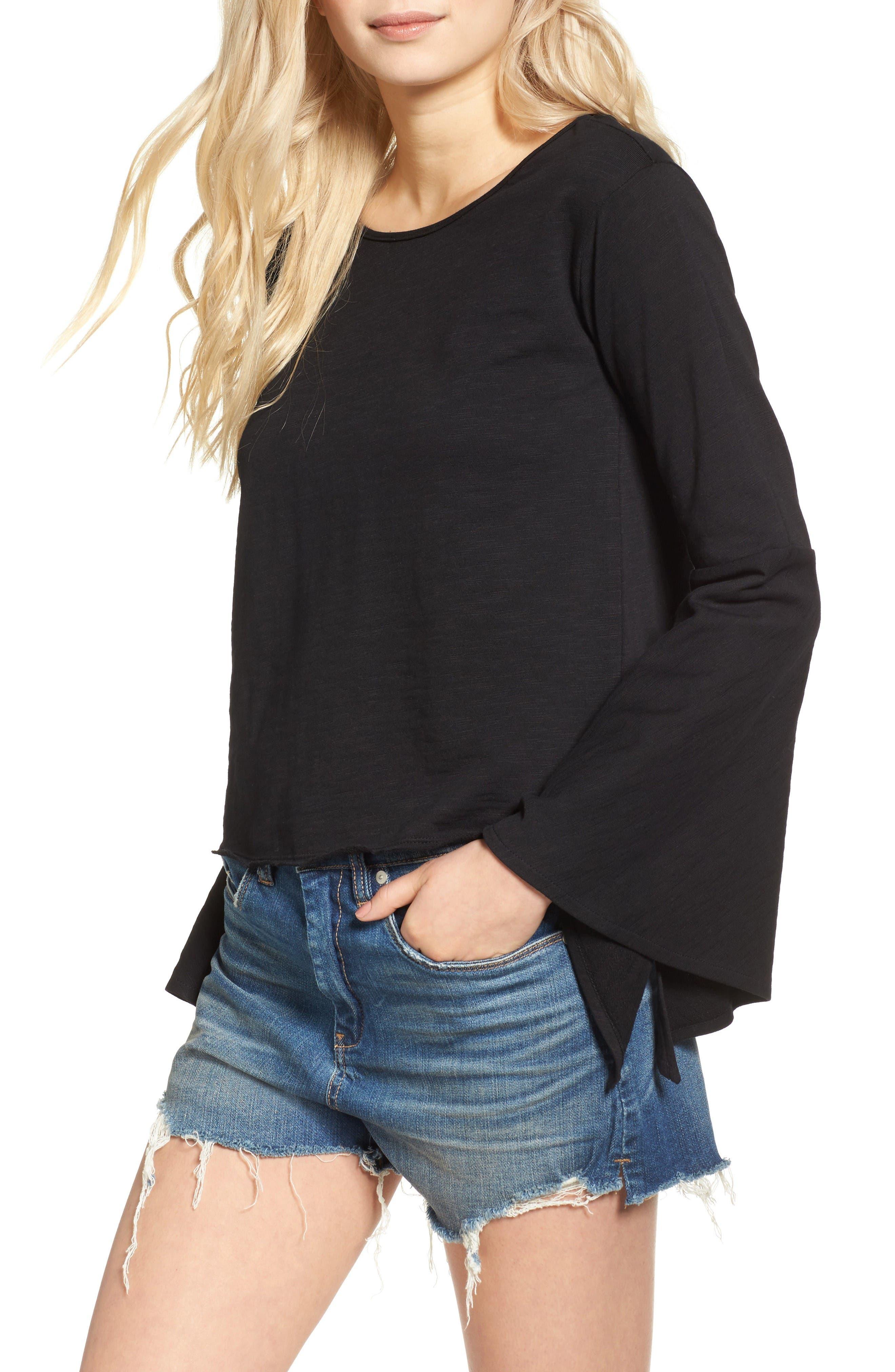 Main Image - BLANKNYC Shadow Bell Sleeve Top
