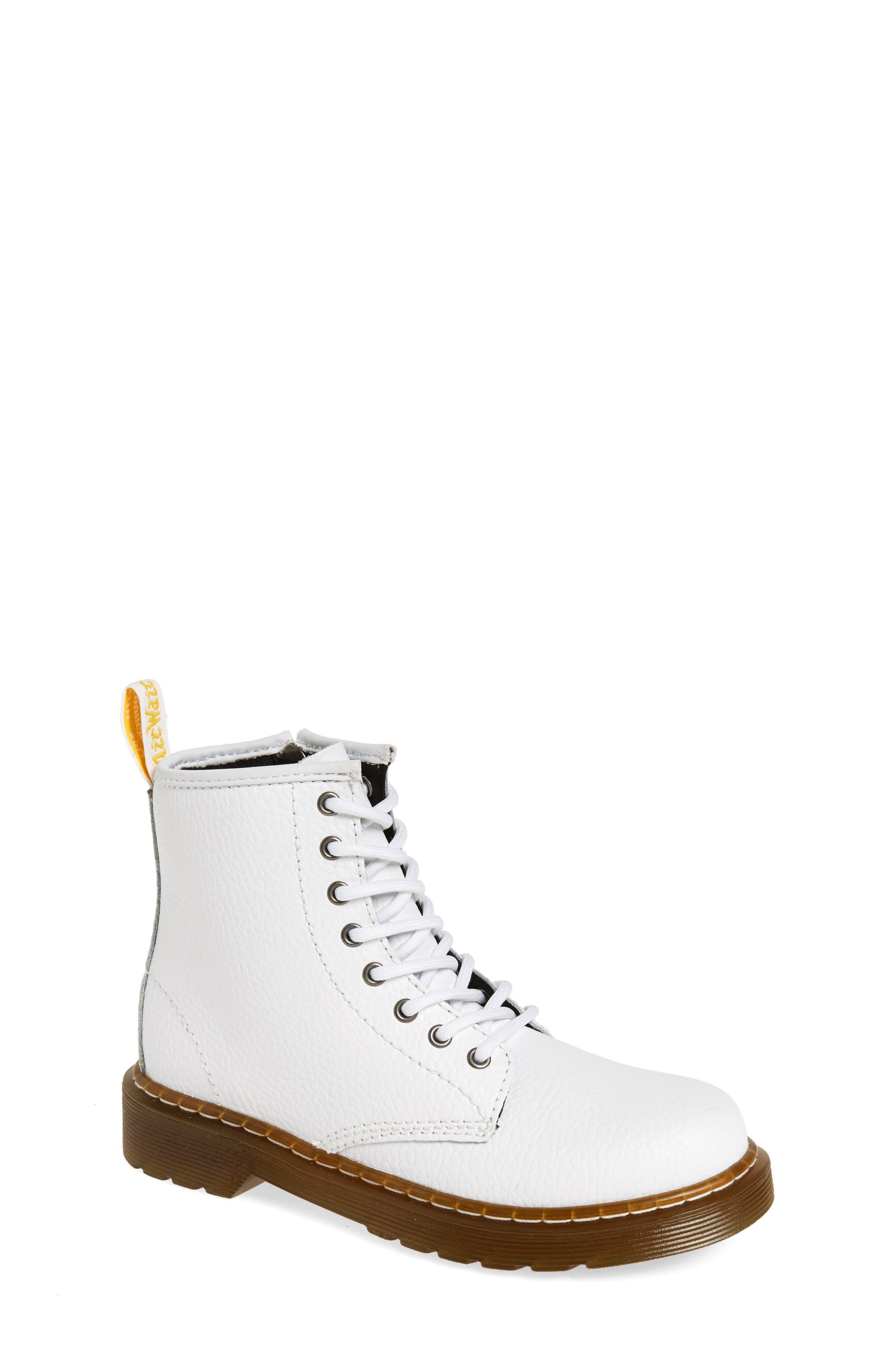 Delaney Pebbled Boot,                             Main thumbnail 1, color,                             White Pebble Leather