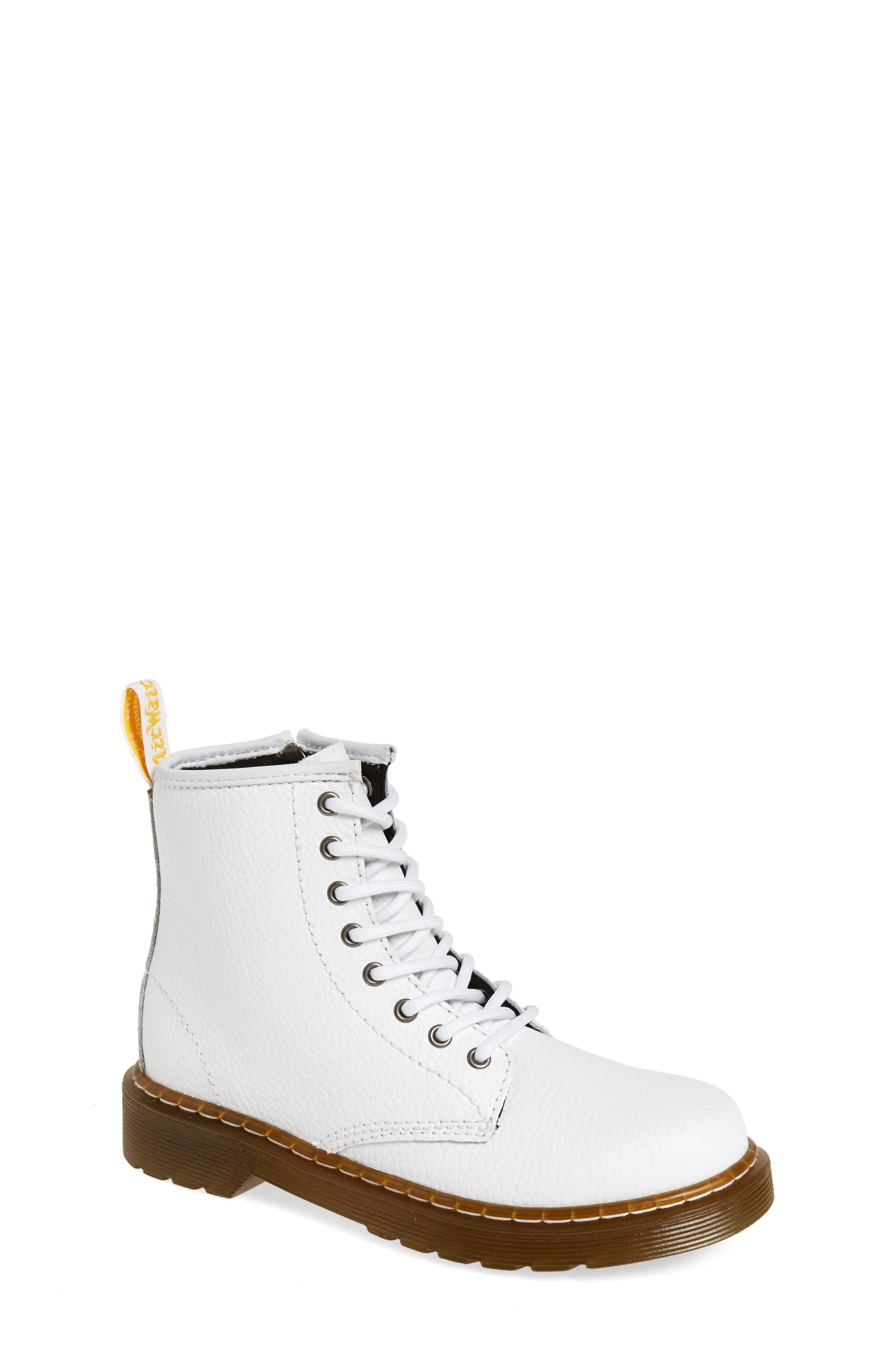 Delaney Pebbled Boot,                         Main,                         color, White Pebble Leather