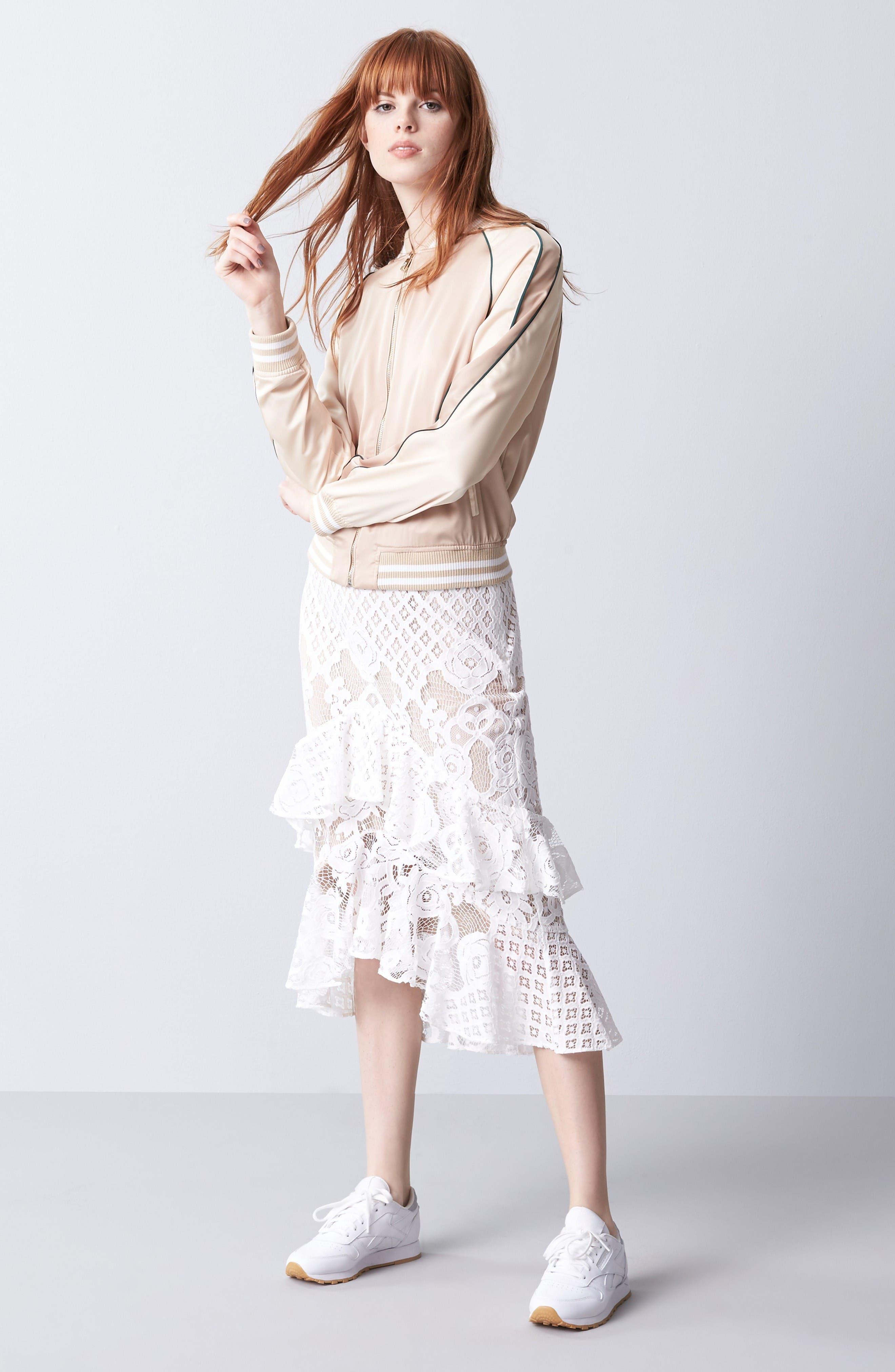 Alternate Image 8  - Chelsea28 Tiered Lace Midi Skirt