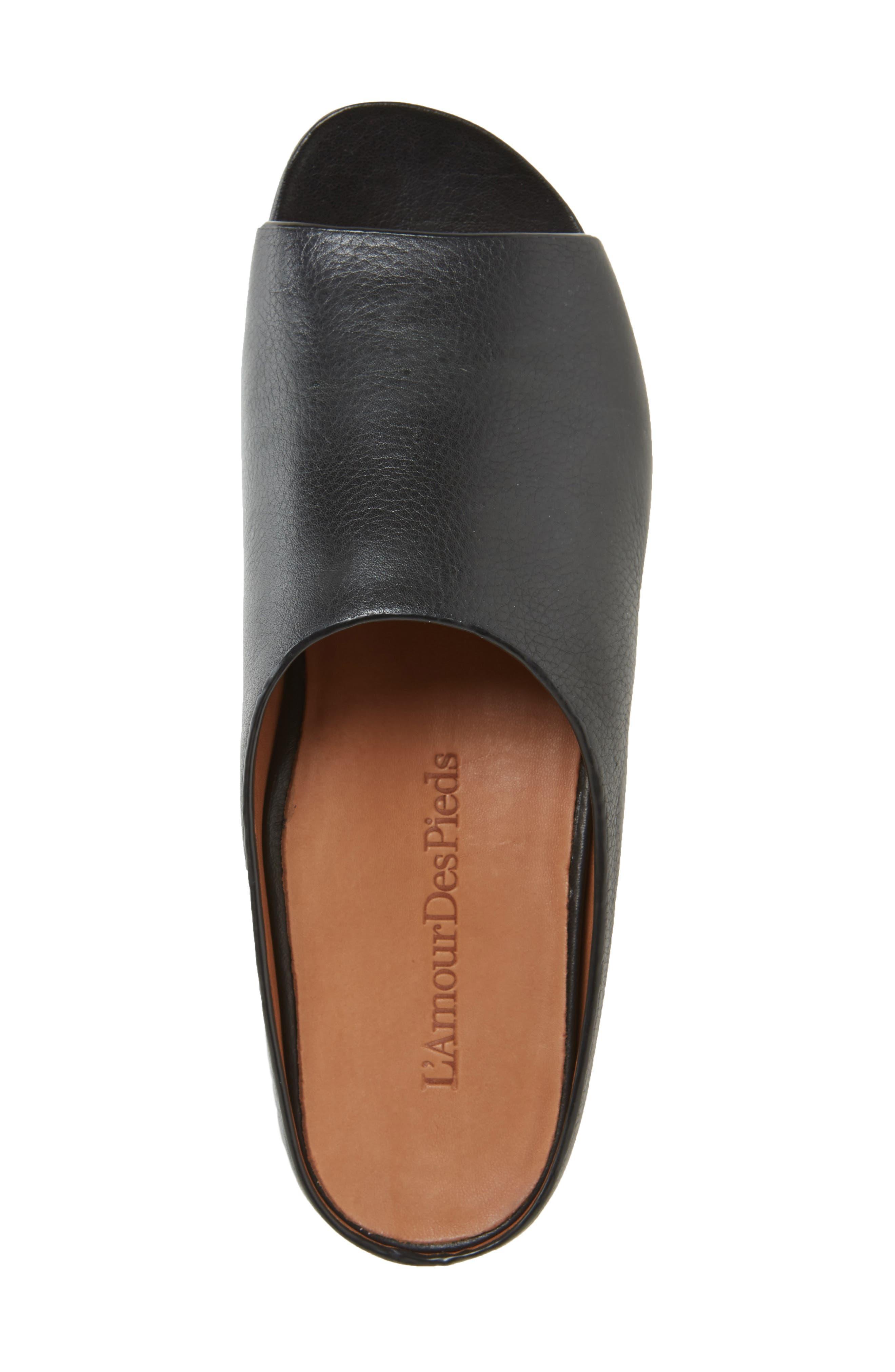 Dijone Mule,                             Alternate thumbnail 3, color,                             Black Leather