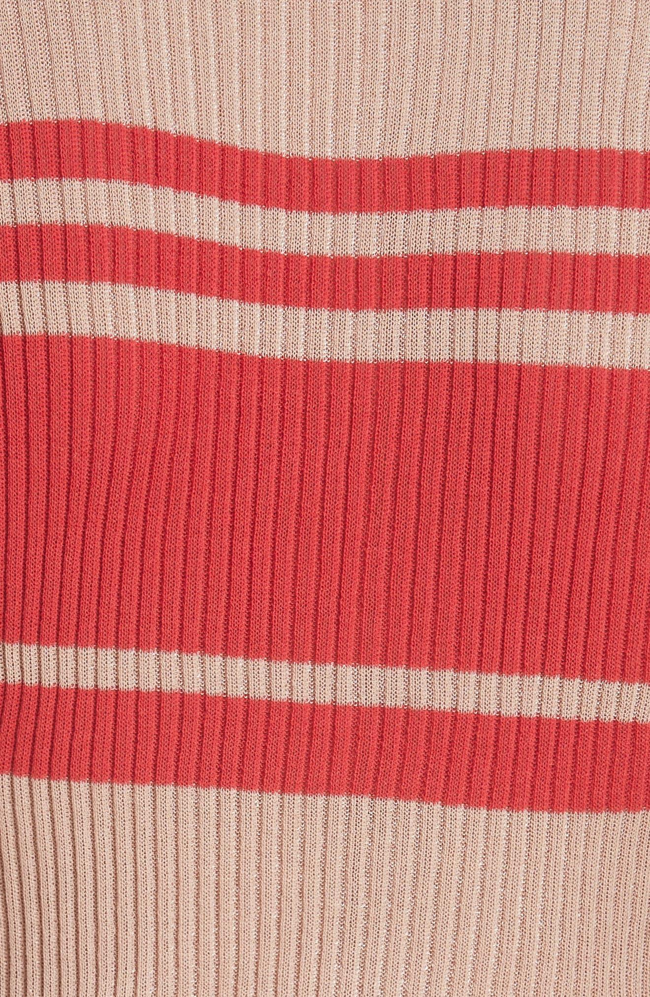 Alternate Image 6  - Self-Portrait Frilled Stripe Sweater