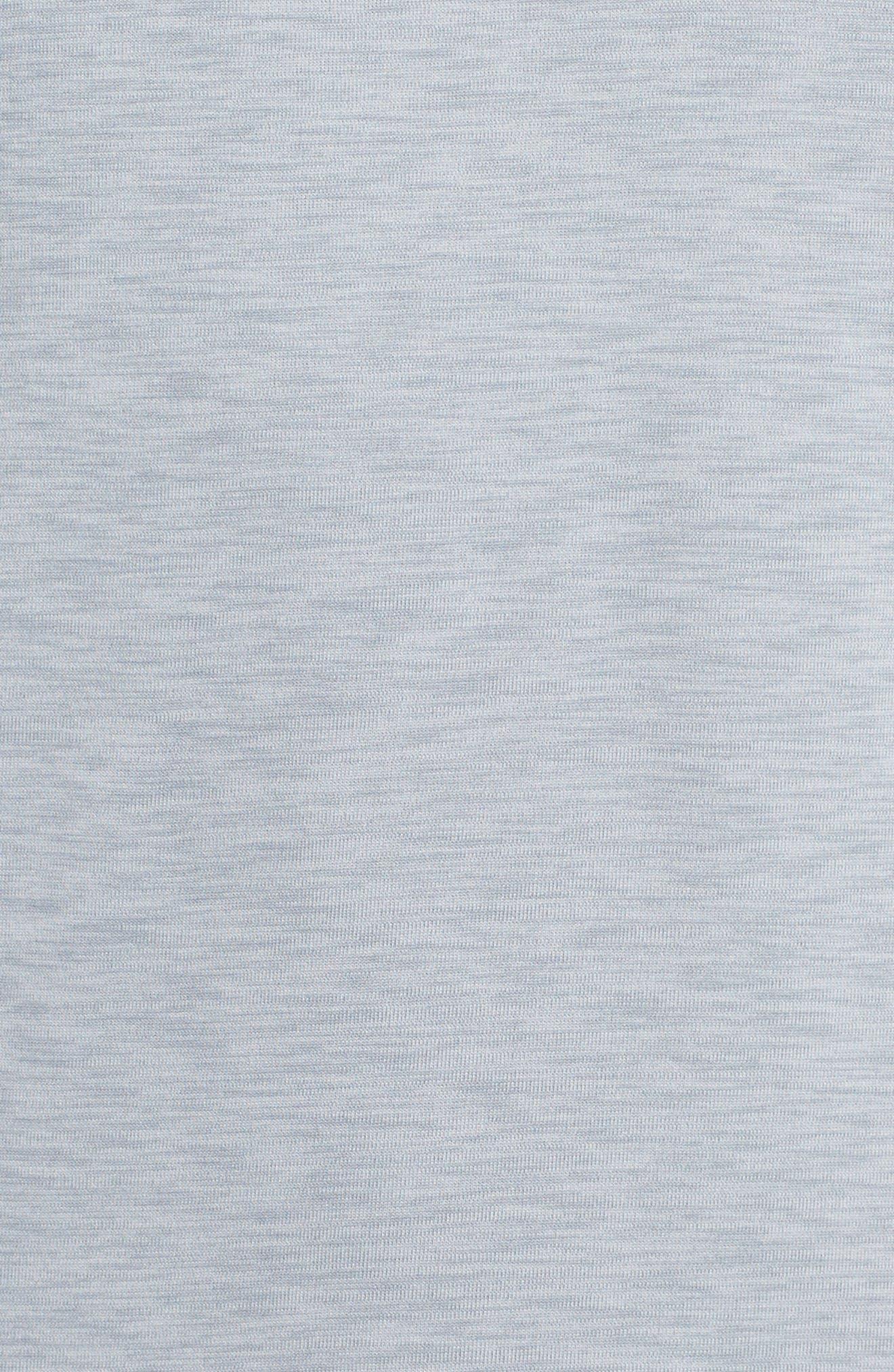 Hyper Dry Training Tee,                             Alternate thumbnail 5, color,                             Pure Platinum/ Stealth/ Black