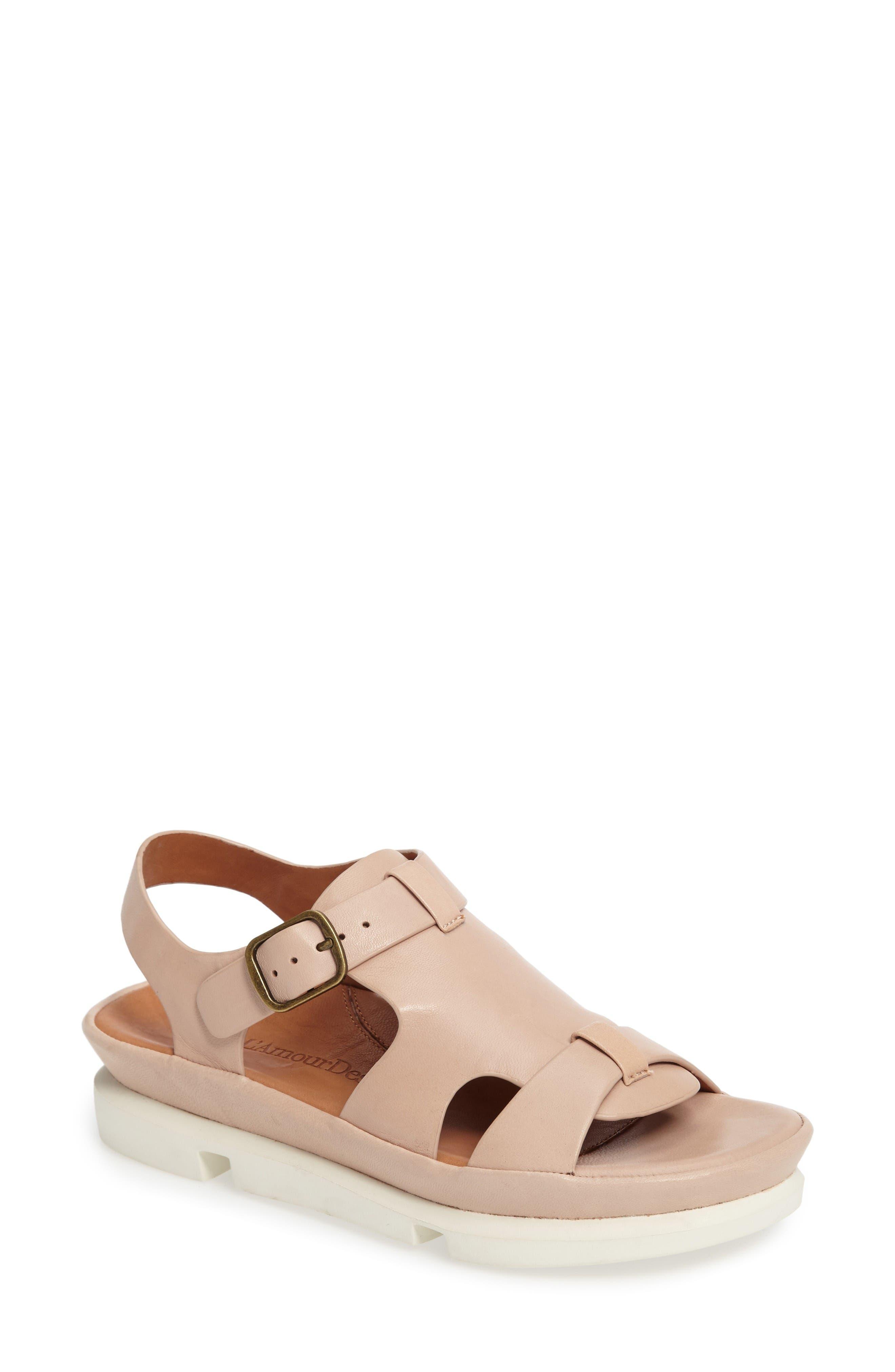 Villefranche Sandal,                         Main,                         color, Nude Leather