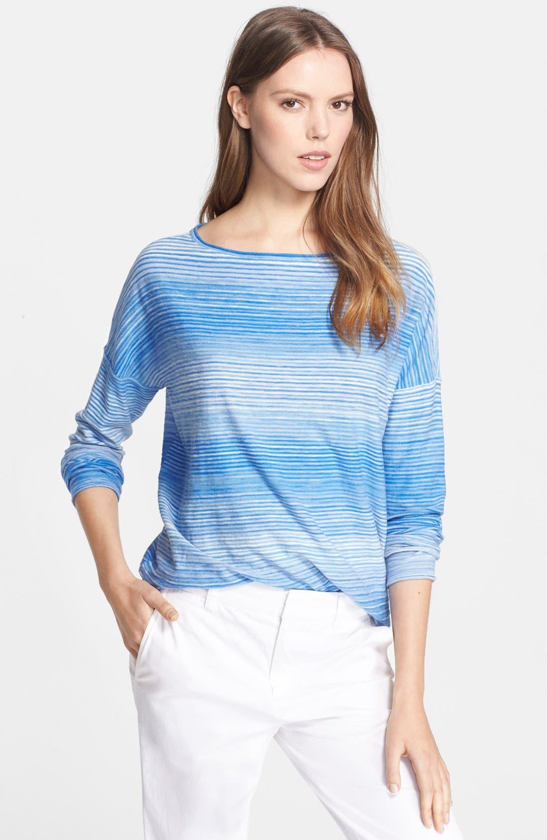 Boatneck Sweater,                         Main,                         color, Santorini Combo