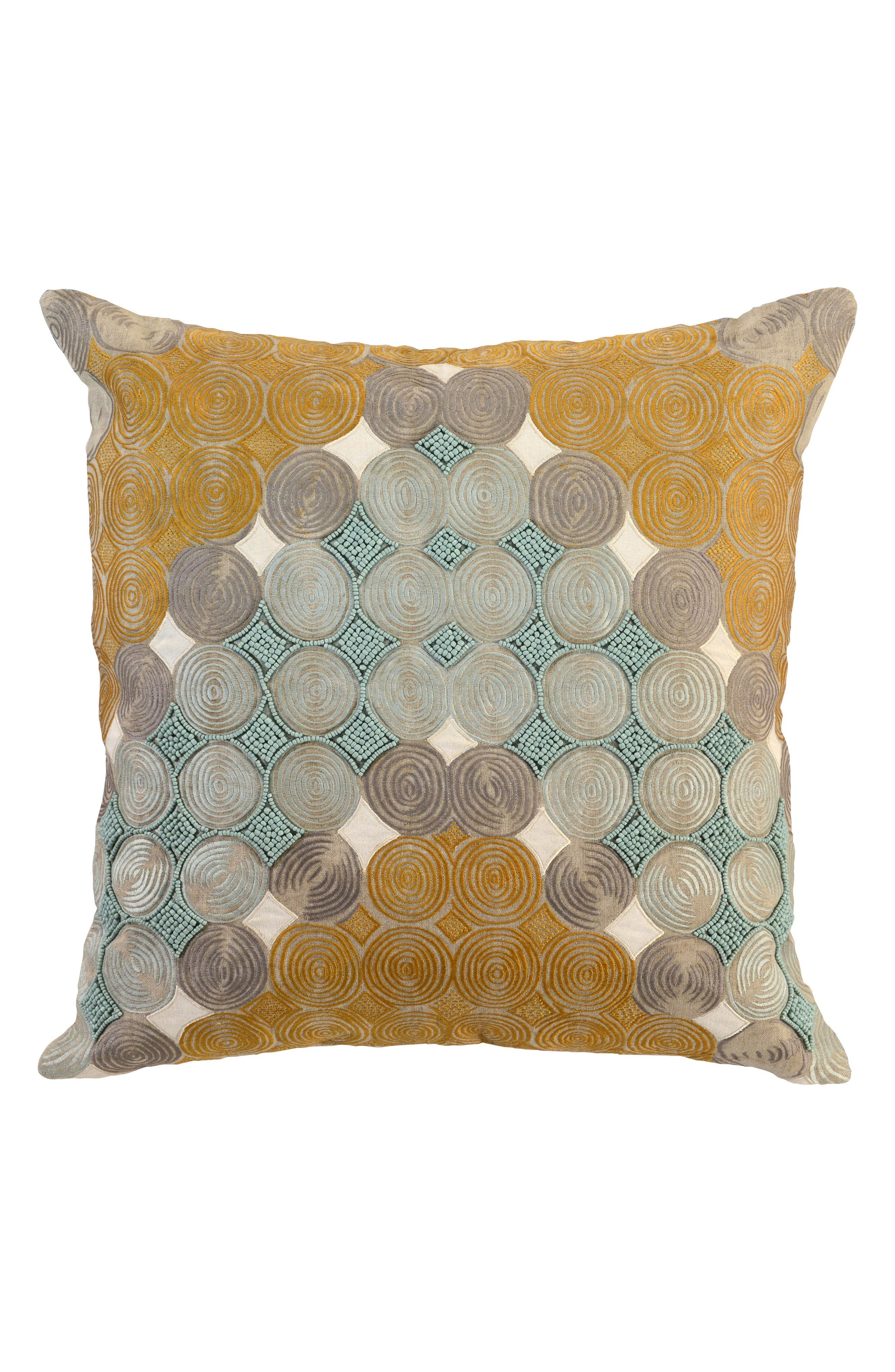 Mazza Tidal Accent Pillow,                         Main,                         color, Yellow/ Blue