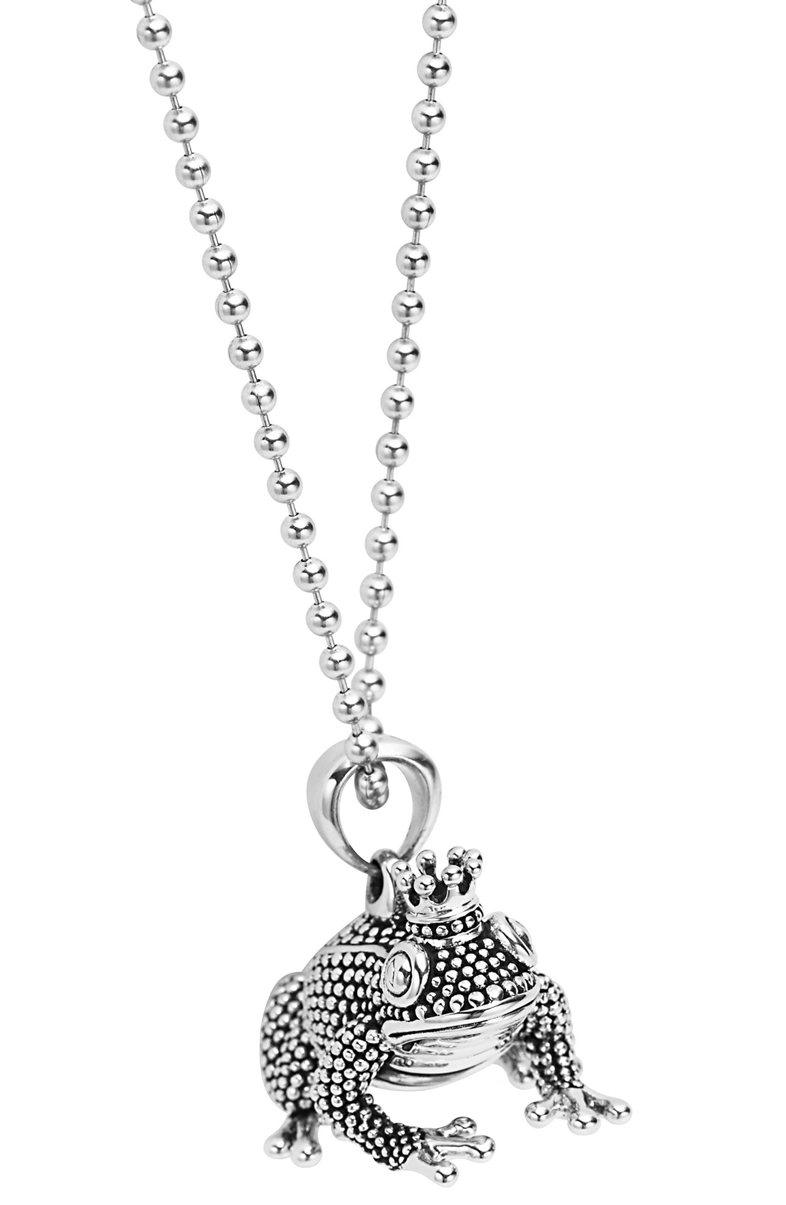 LAGOS Rare Wonders Frog Prince Pendant Necklace