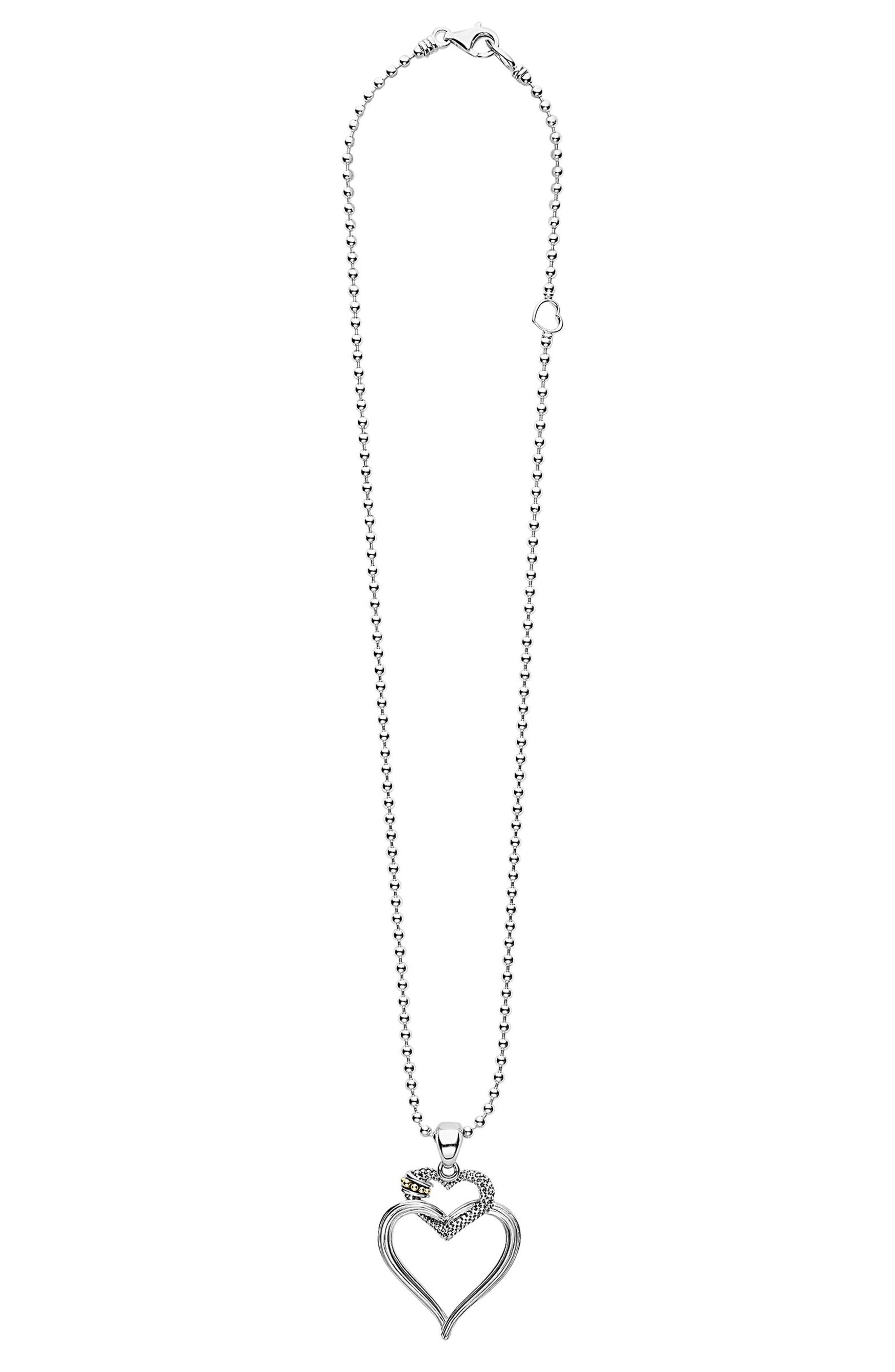 Beloved Heart Pendant Necklace,                             Alternate thumbnail 2, color,                             Silver