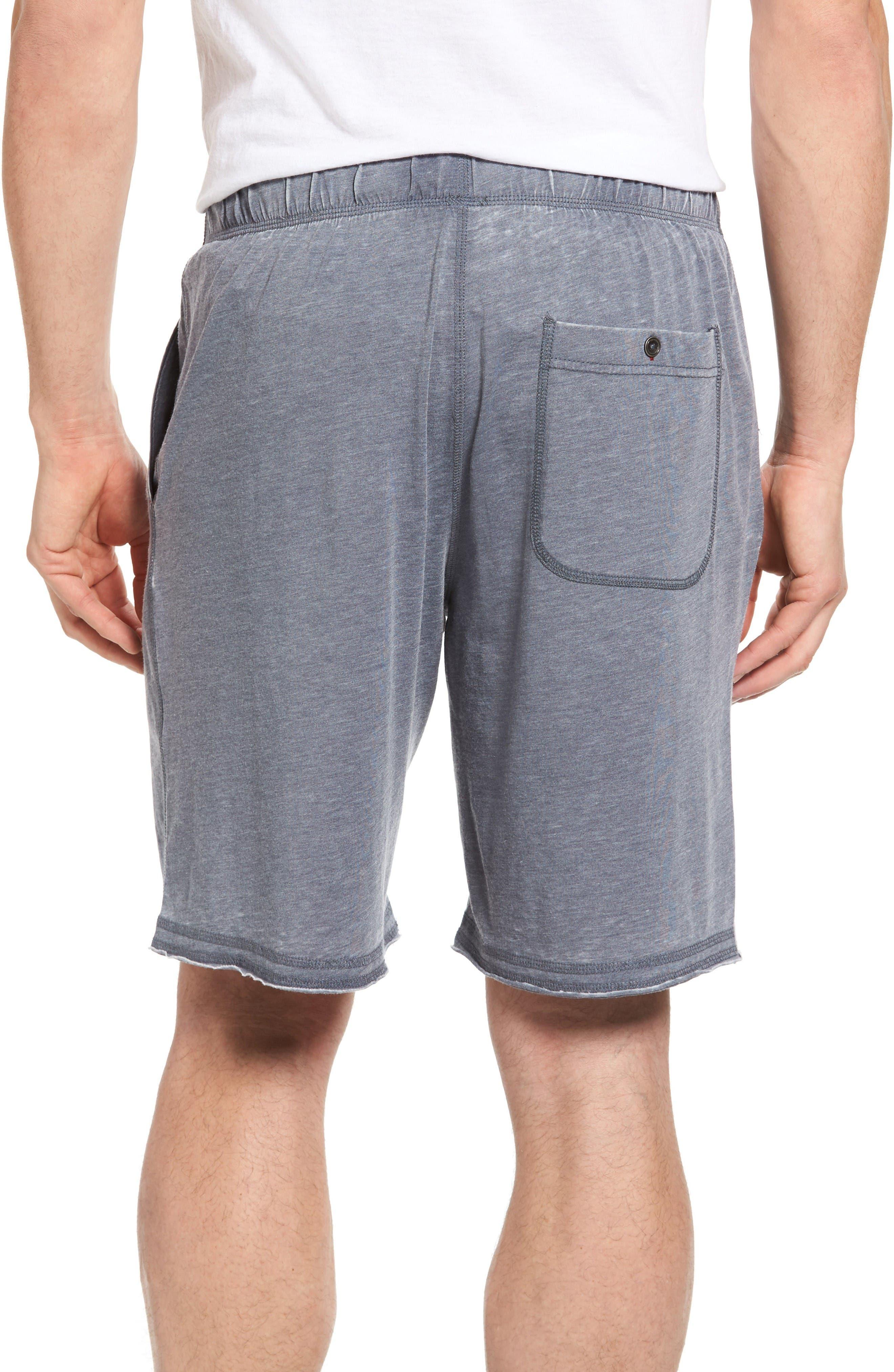 Burnout Lounge Shorts,                             Alternate thumbnail 2, color,                             Charcoal