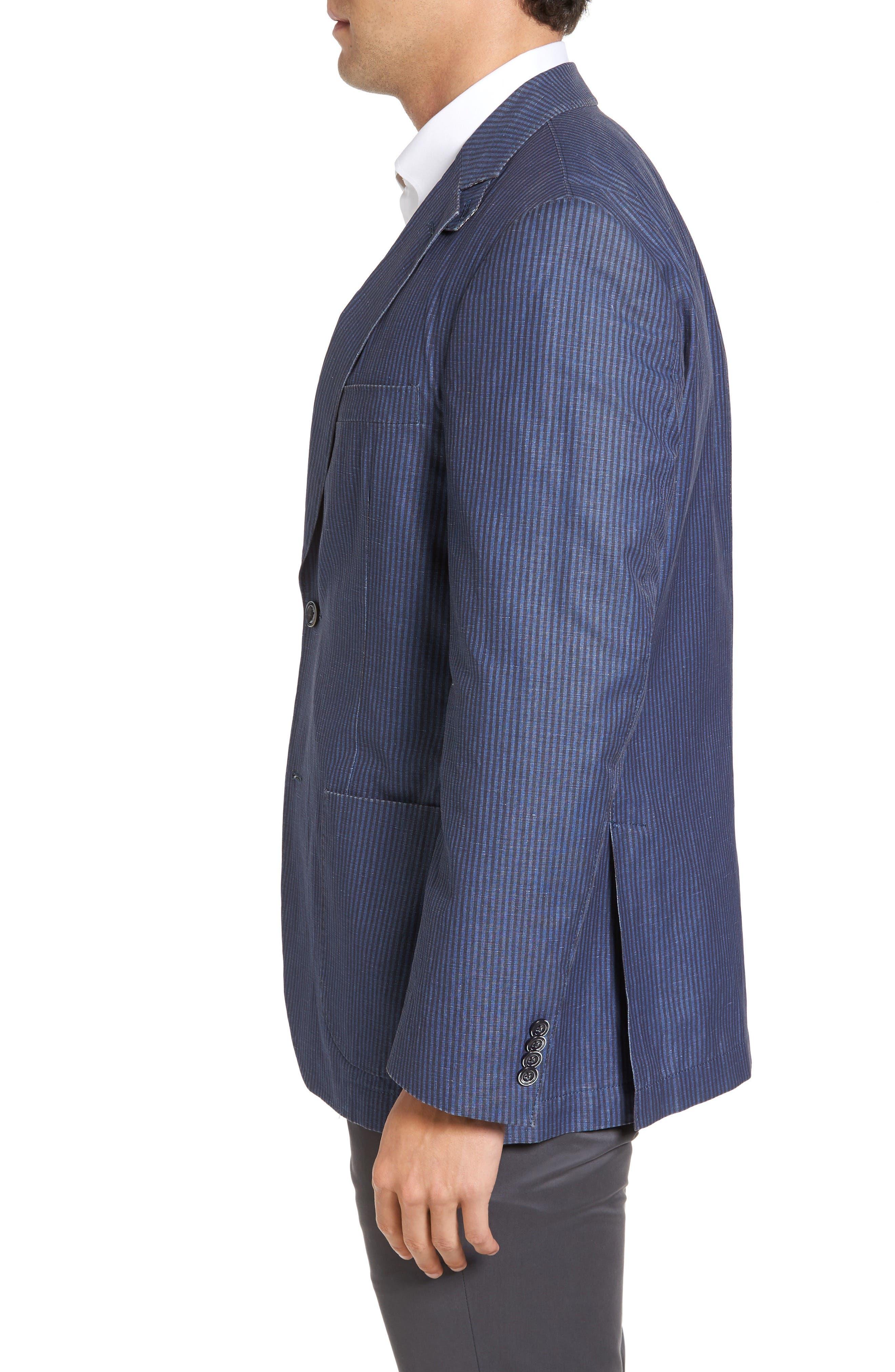 Alternate Image 3  - Kroon Bono 2 Classic Fit Stripe Cotton & Linen Sport Coat