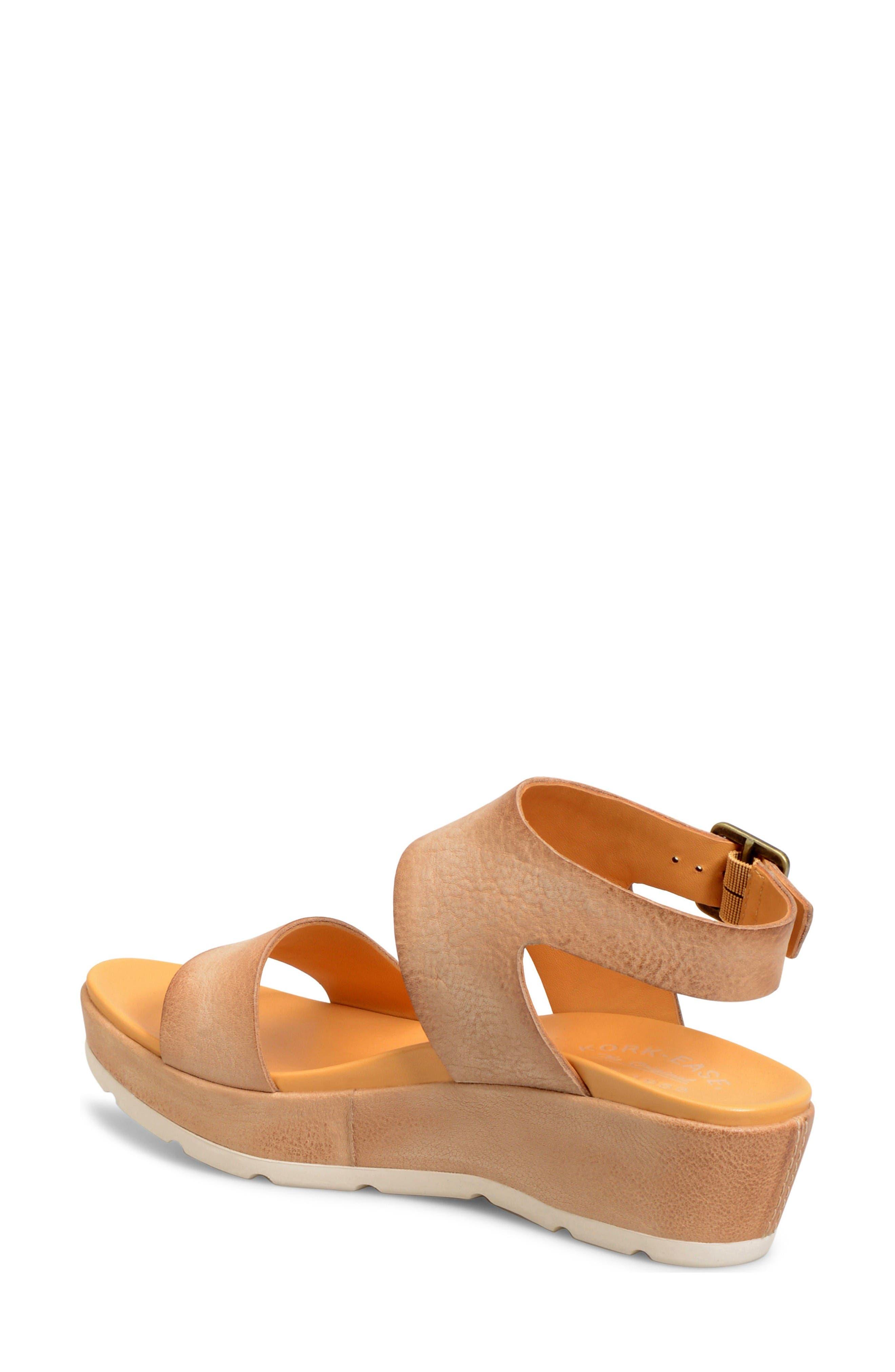 'Khloe' Platform Wedge Sandal,                             Alternate thumbnail 2, color,                             Natural Leather