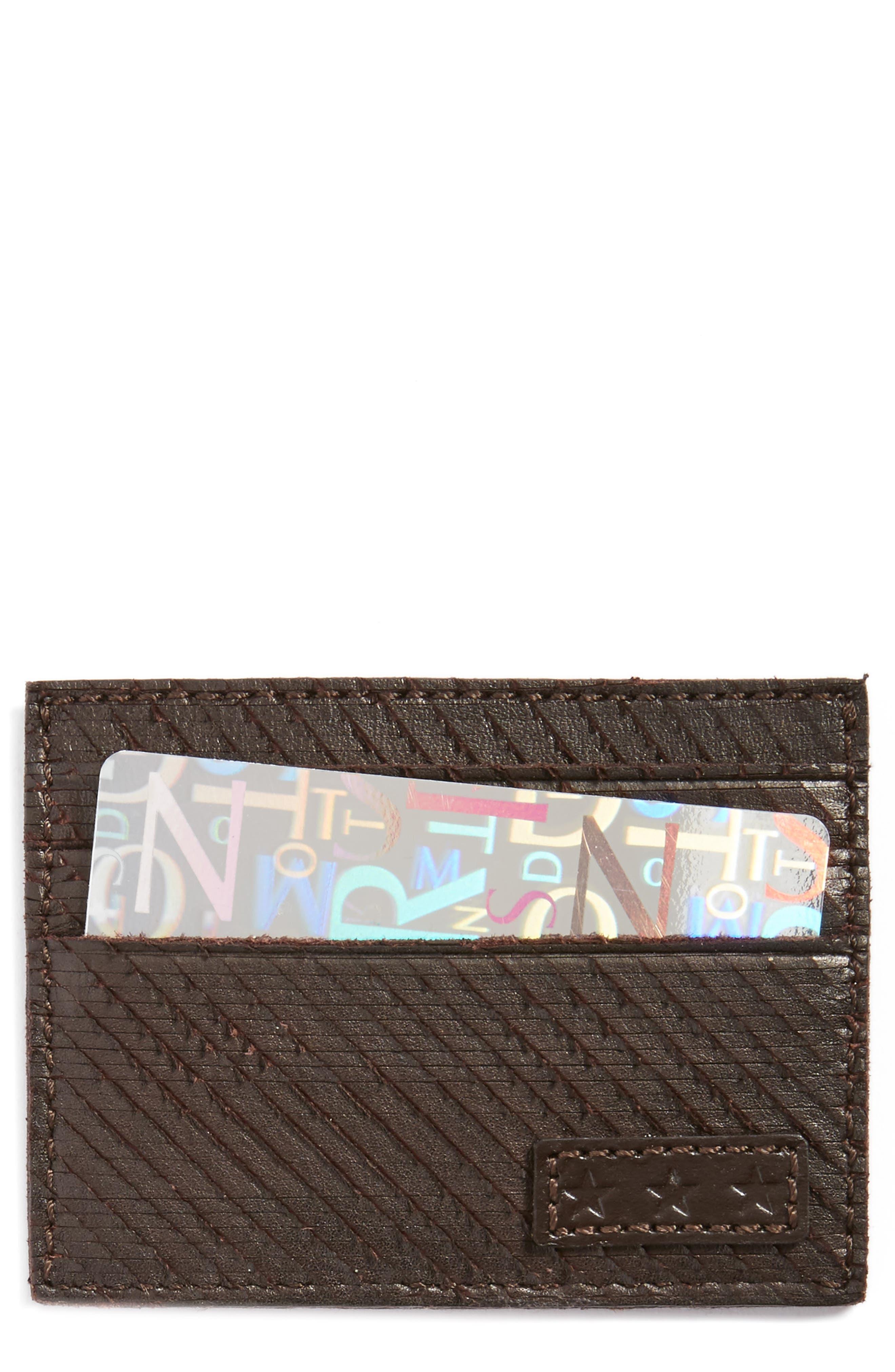 JOHN VARVATOS STAR USA Leather Card Case
