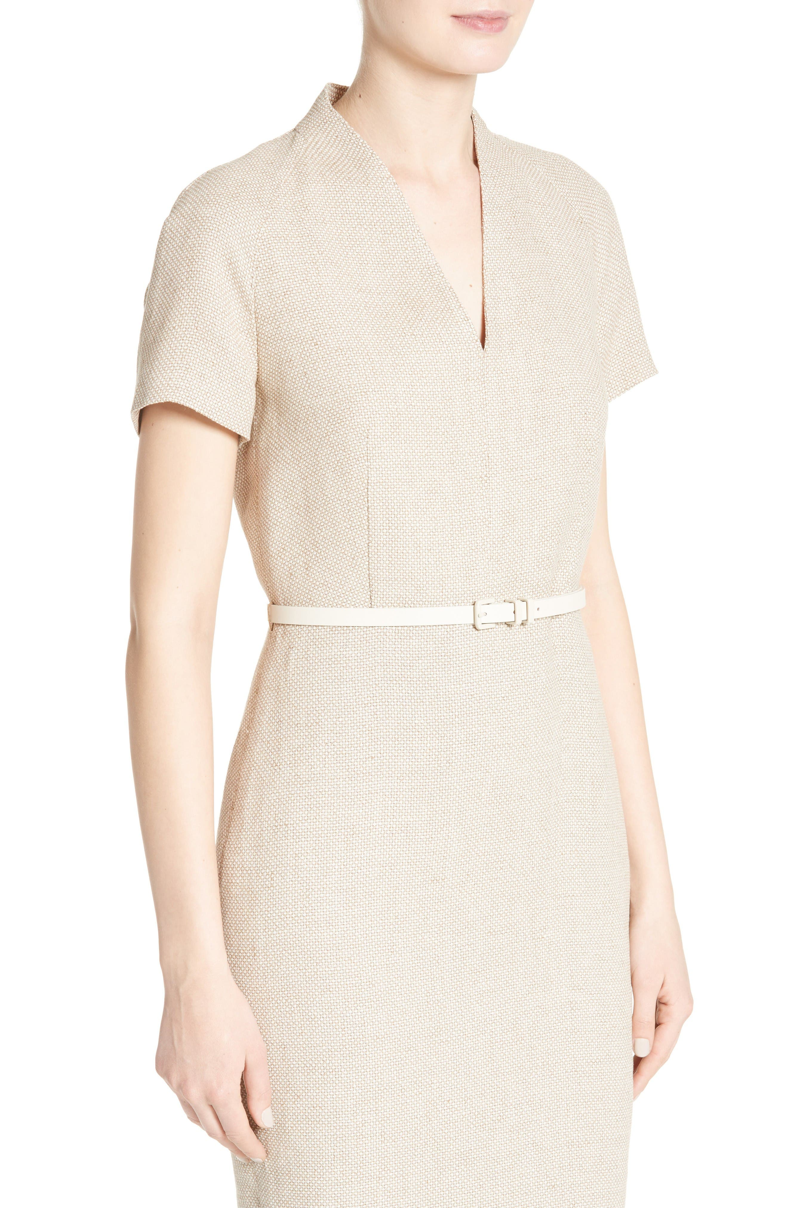 Alternate Image 6  - Max Mara Azeglio Belted Linen Sheath Dress