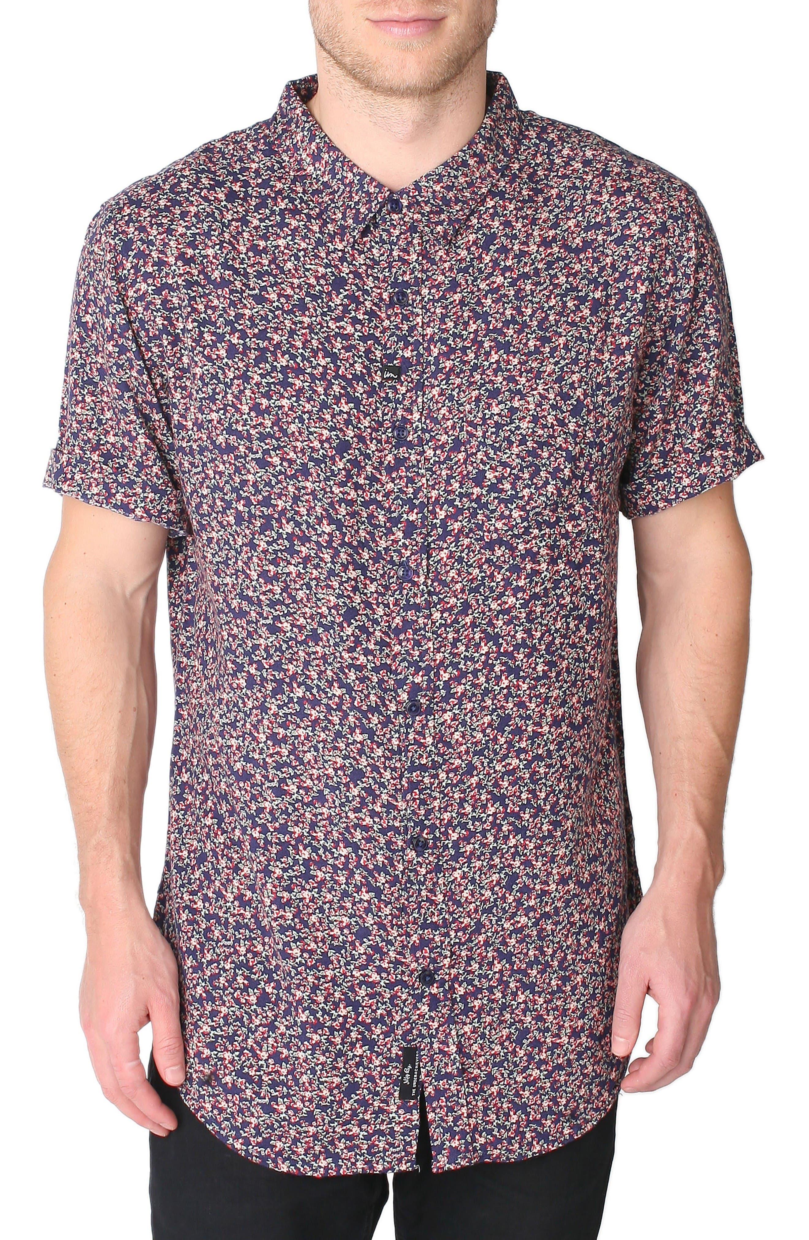 IMPERIAL MOTION Vacay Clark Print Rayon Shirt