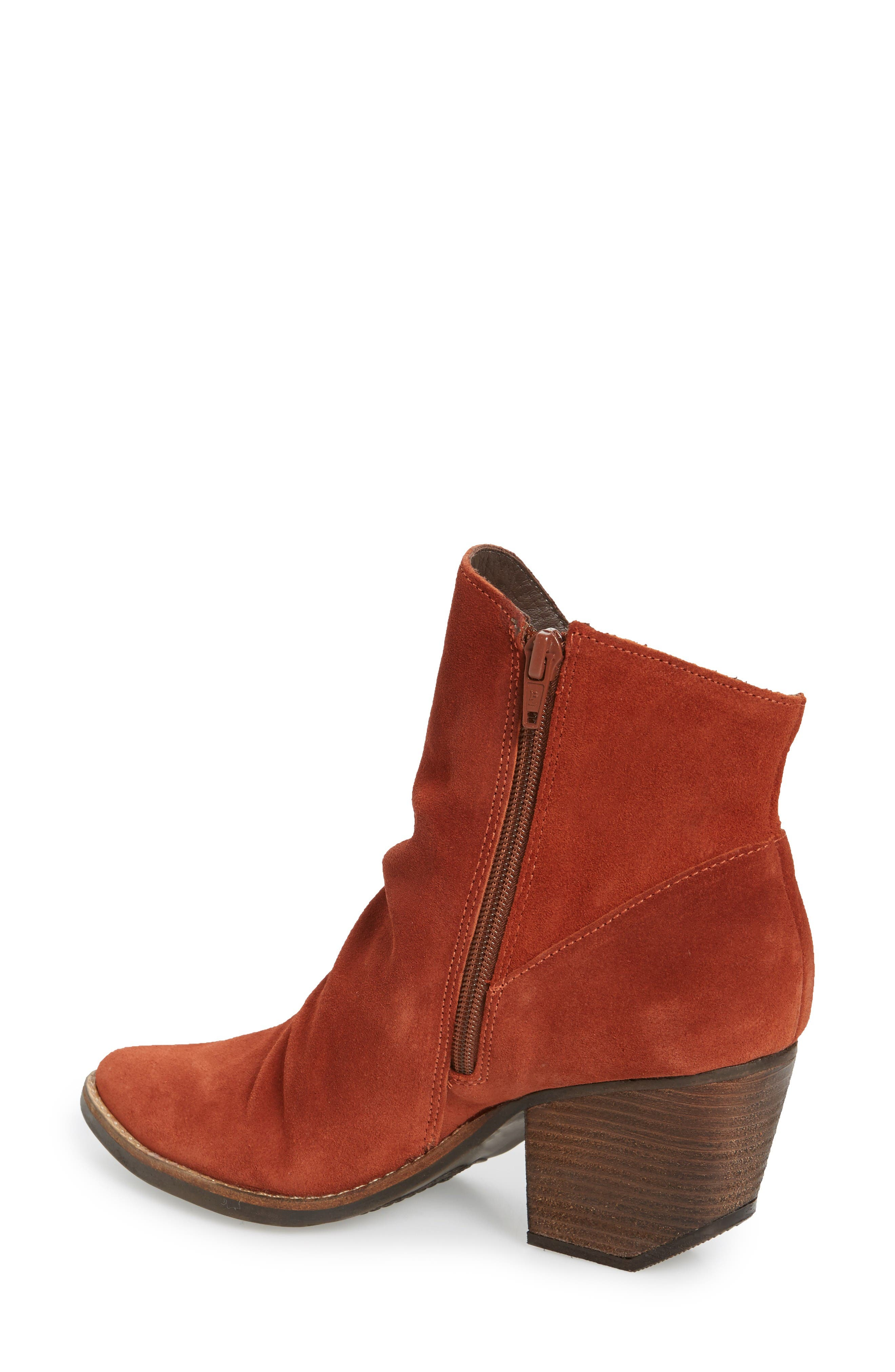 Society Bootie,                             Alternate thumbnail 2, color,                             Rust Suede