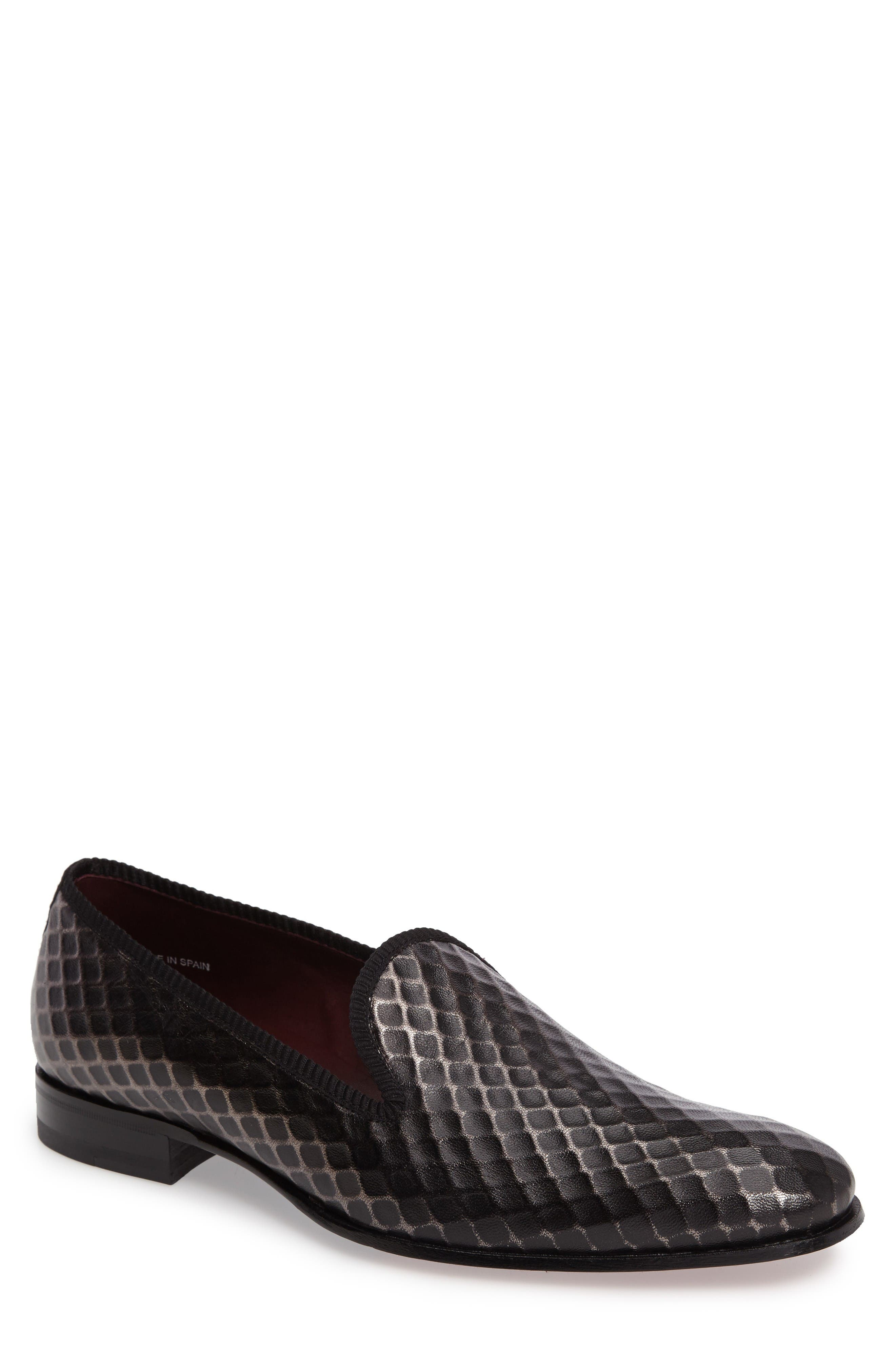 Hilbert Loafer,                             Main thumbnail 1, color,                             Grey Leather