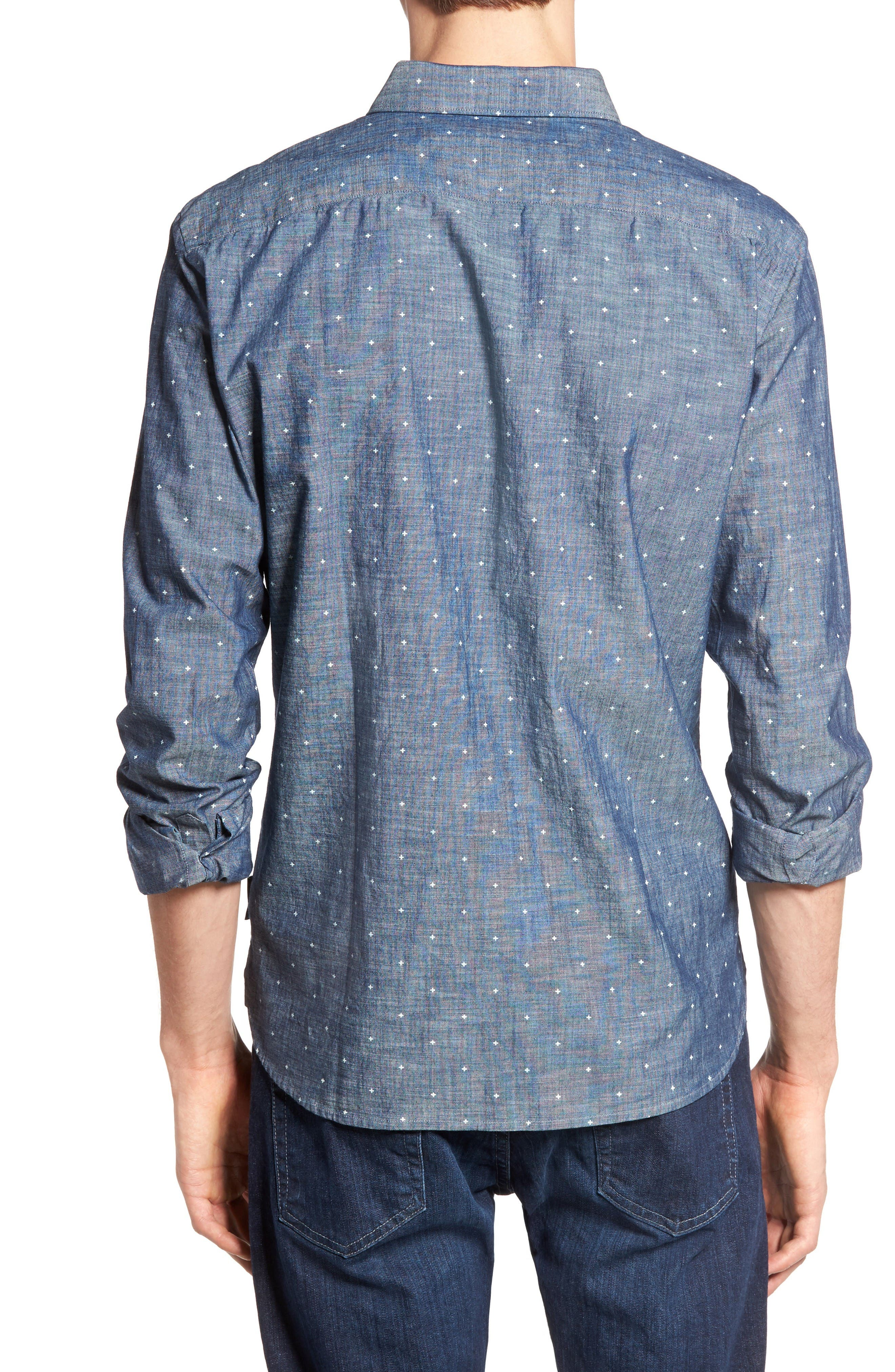 Alternate Image 2  - French Connection Print Slub Chambray Shirt