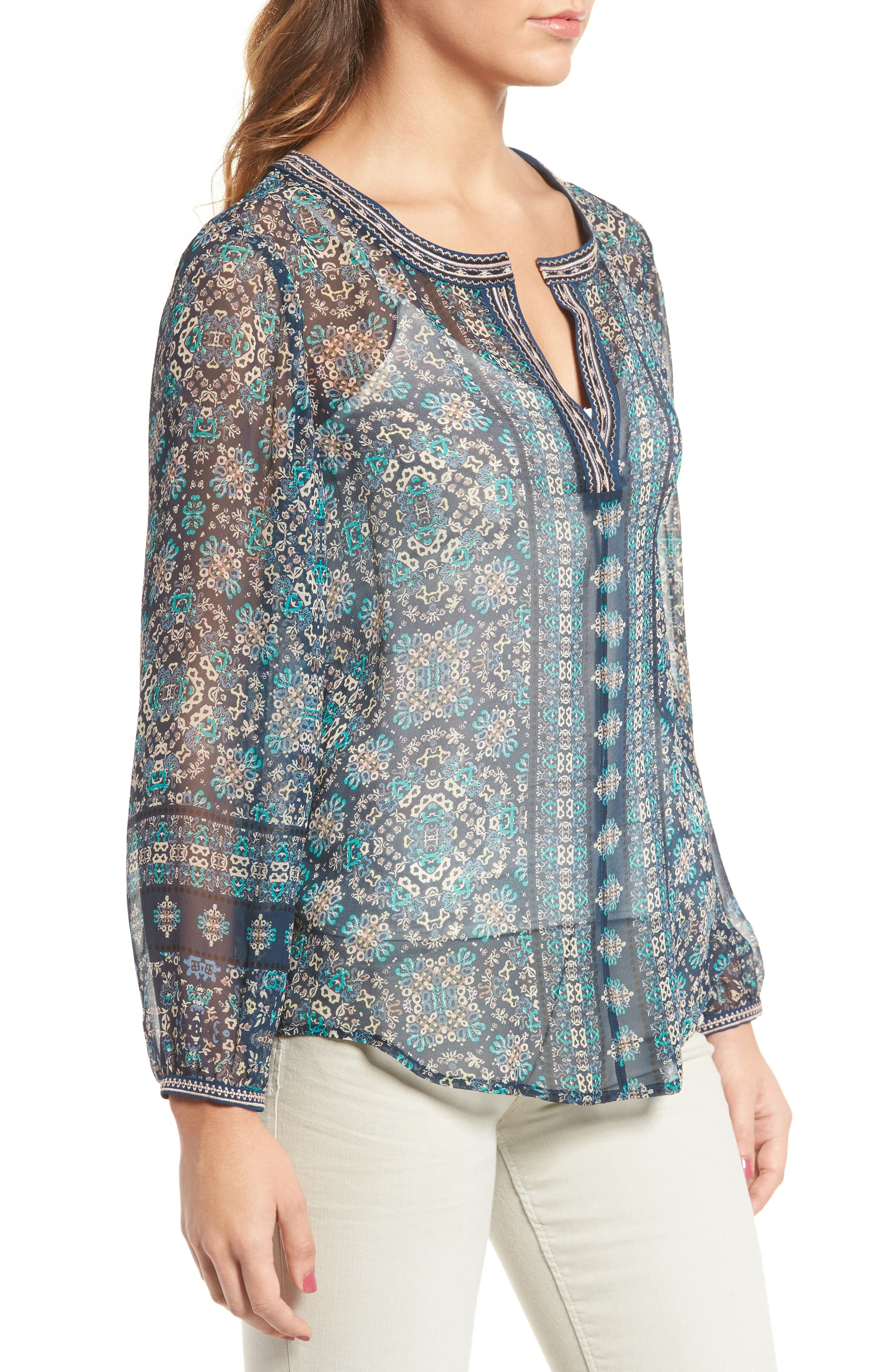 Alternate Image 3  - Ella Moss Wayfair Silk Blouse