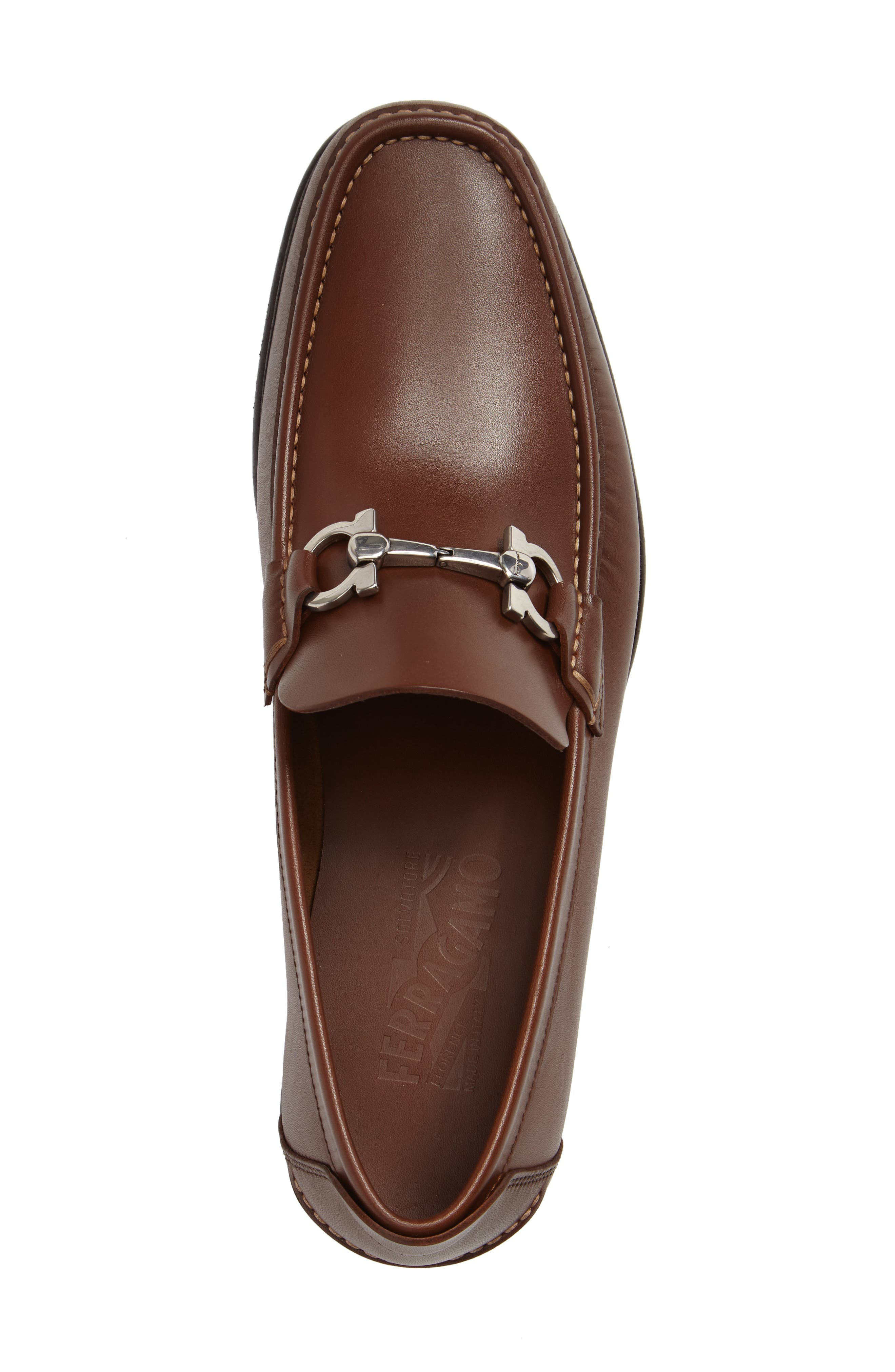 Bit Loafer,                             Alternate thumbnail 3, color,                             Brown Leather