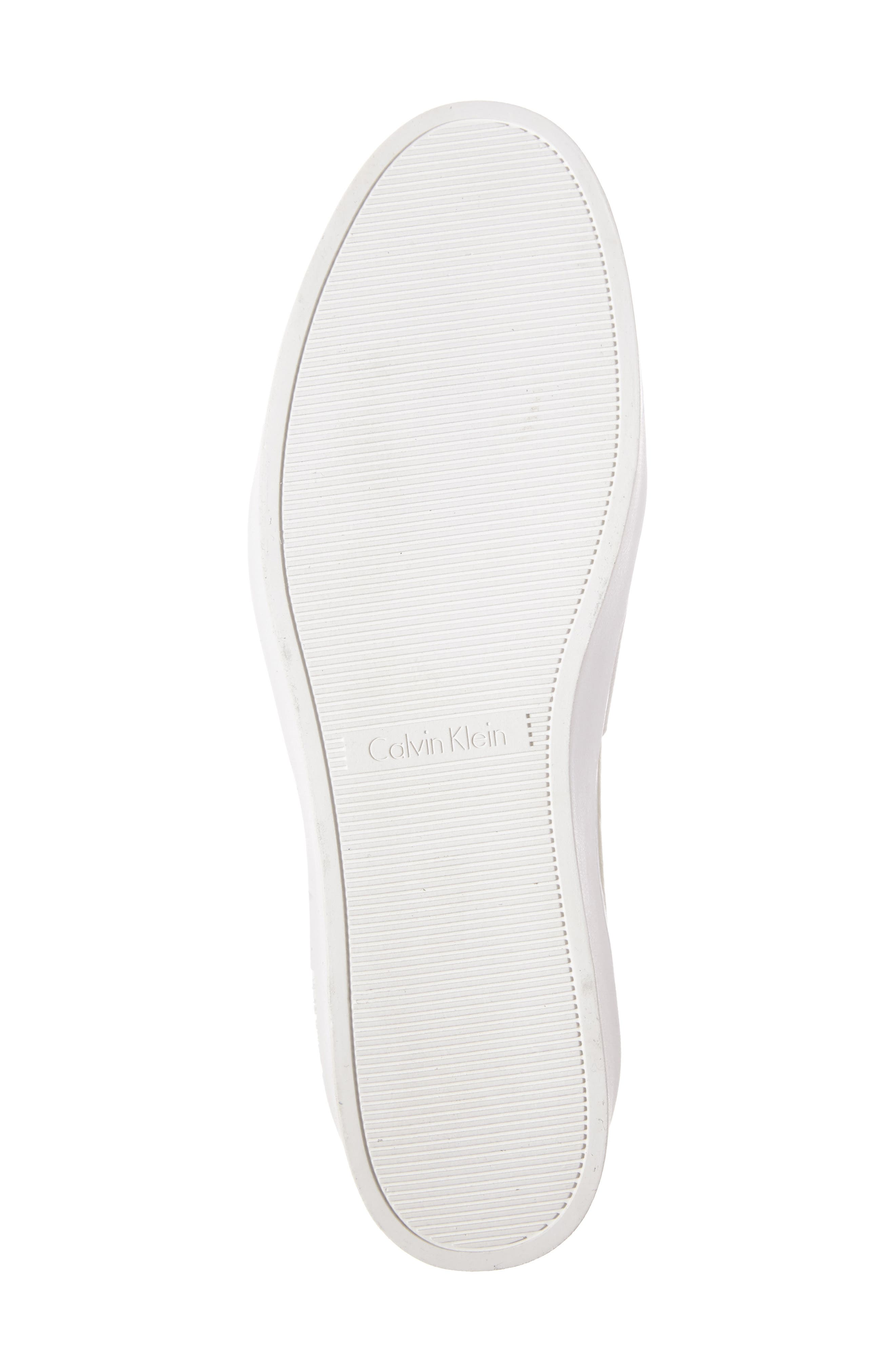 Jacinta Platform Sneaker,                             Alternate thumbnail 4, color,                             Soft White Leather
