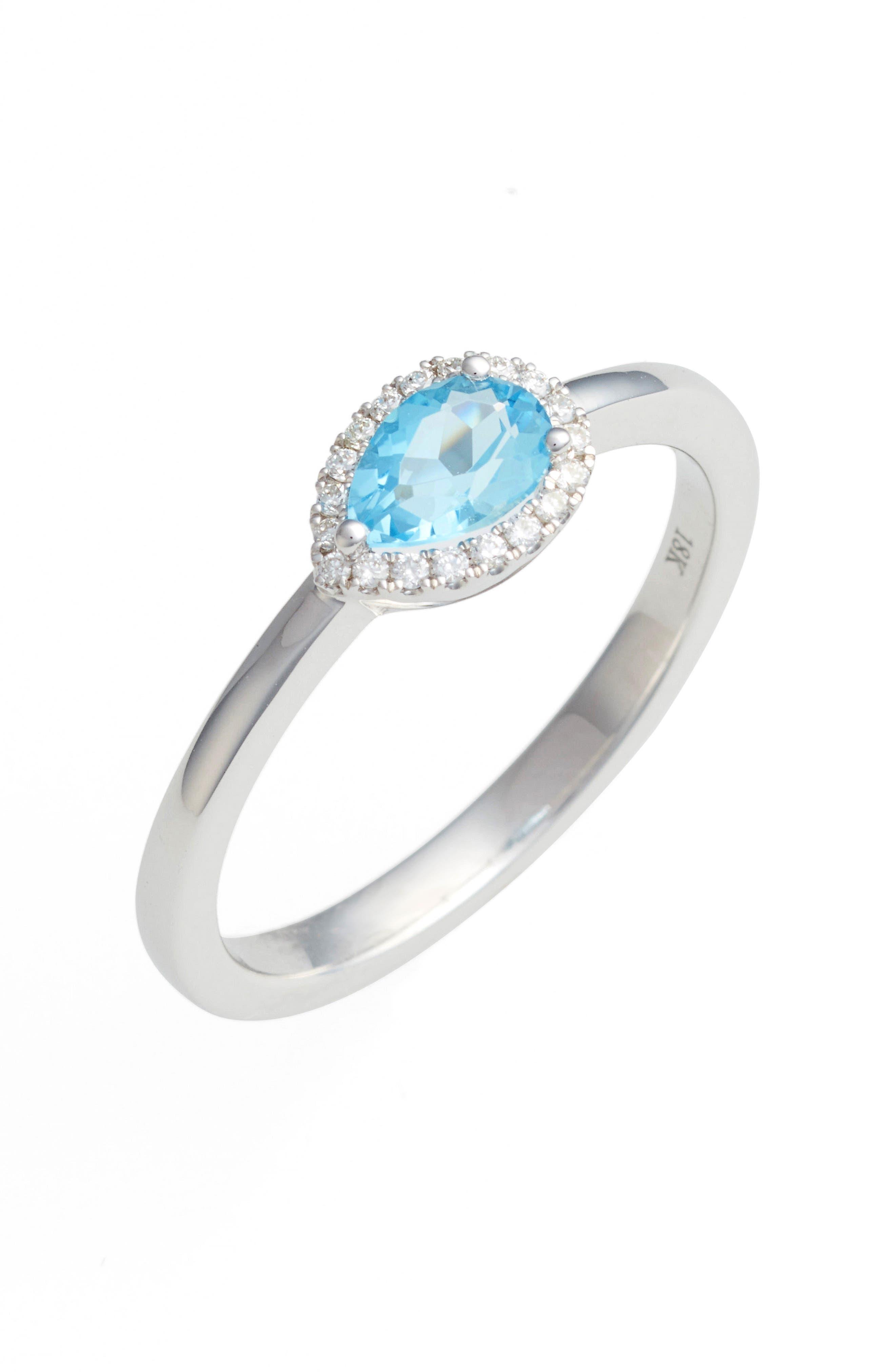 Alternate Image 1 Selected - Bony Levy Iris Diamond & Semiprecious Stone Teardrop Ring (Nordstrom Exclusive)
