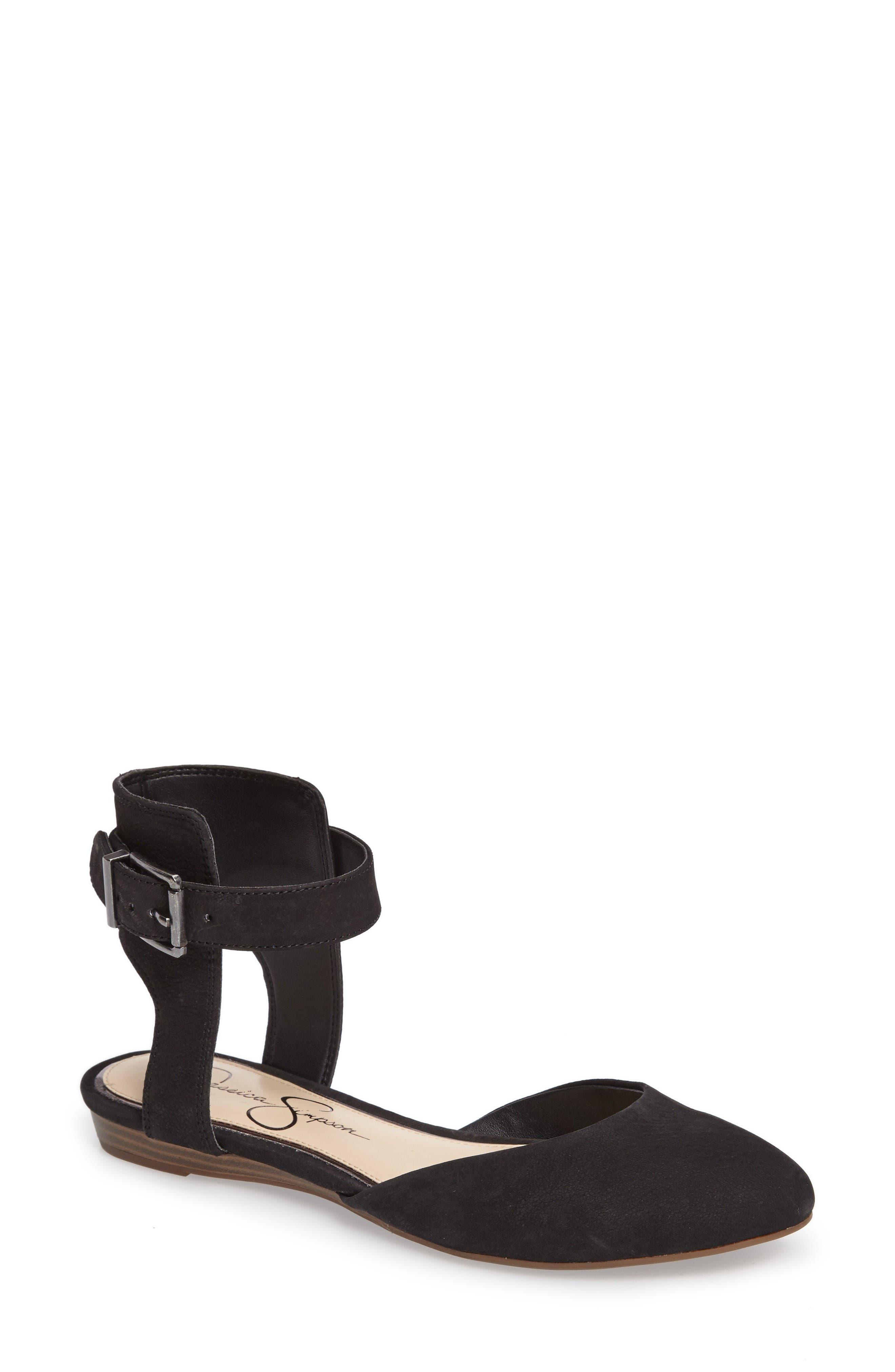 Alternate Image 1 Selected - Jessica Simpson Loranda Ankle Strap Flat (Women)