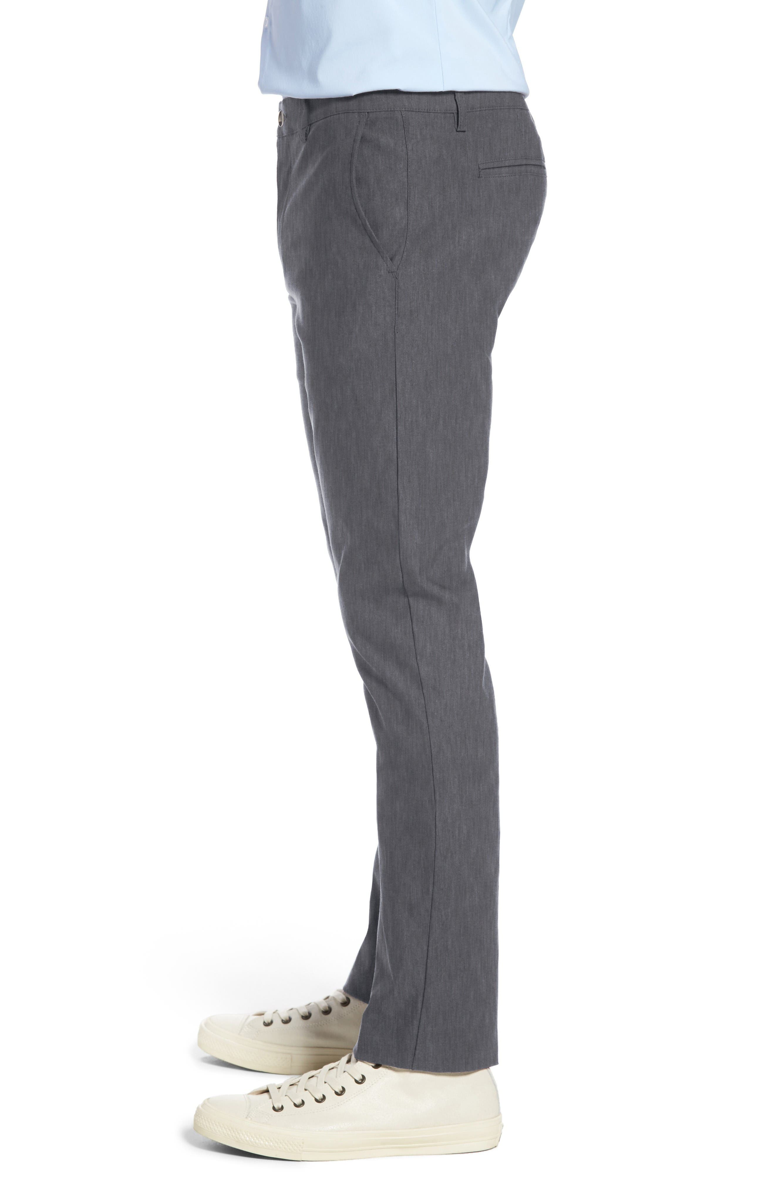 Vice President Trim Fit Performance Chinos,                             Alternate thumbnail 3, color,                             Grey