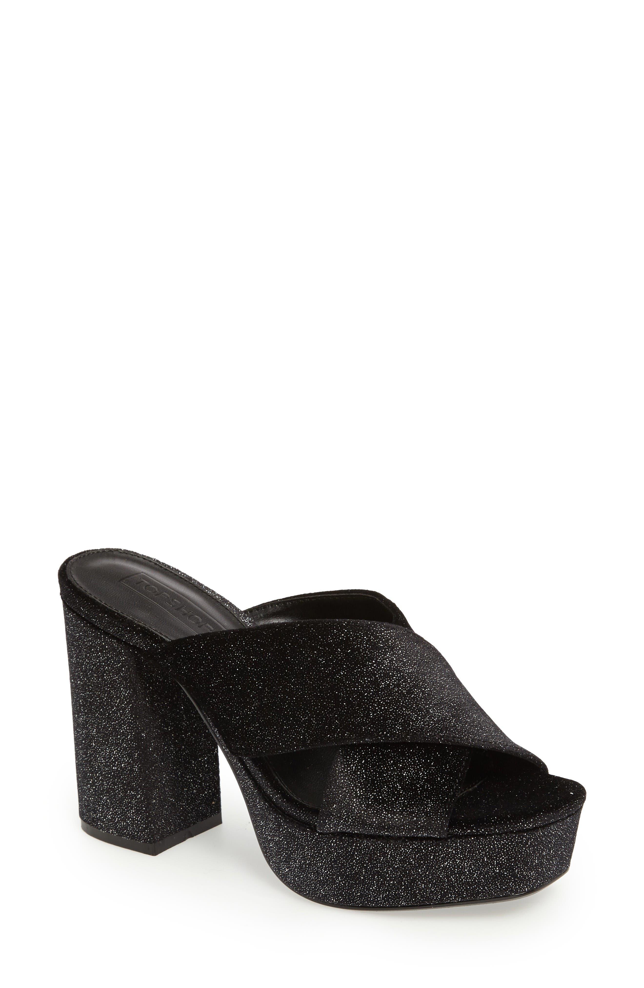 Alternate Image 1 Selected - Topshop Miss X Platform Sandal (Women)