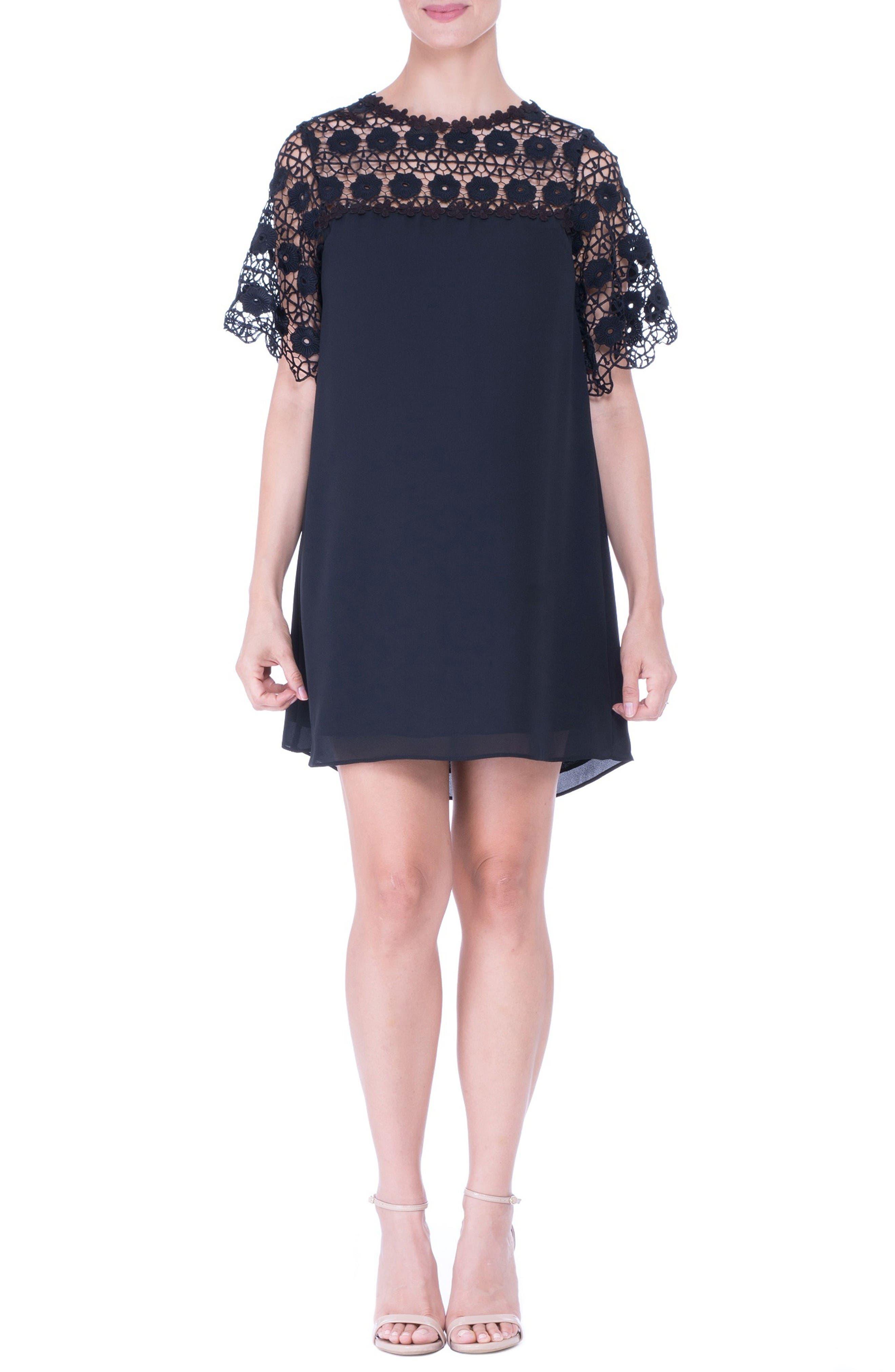 Alternate Image 1 Selected - Olian Lace Yoke Maternity Dress