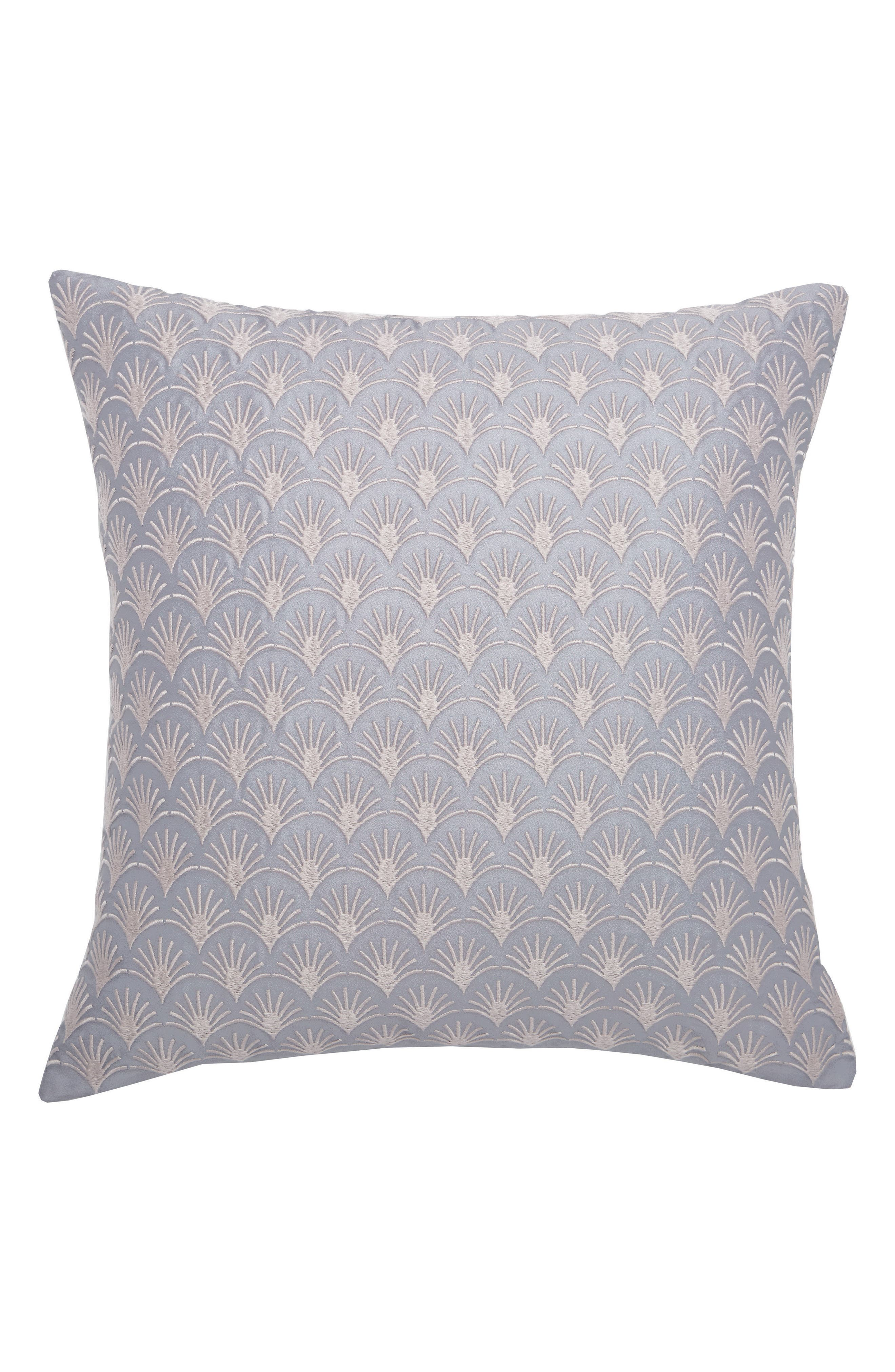 Fan Embroidered Pillow,                         Main,                         color, Grey/ Pink