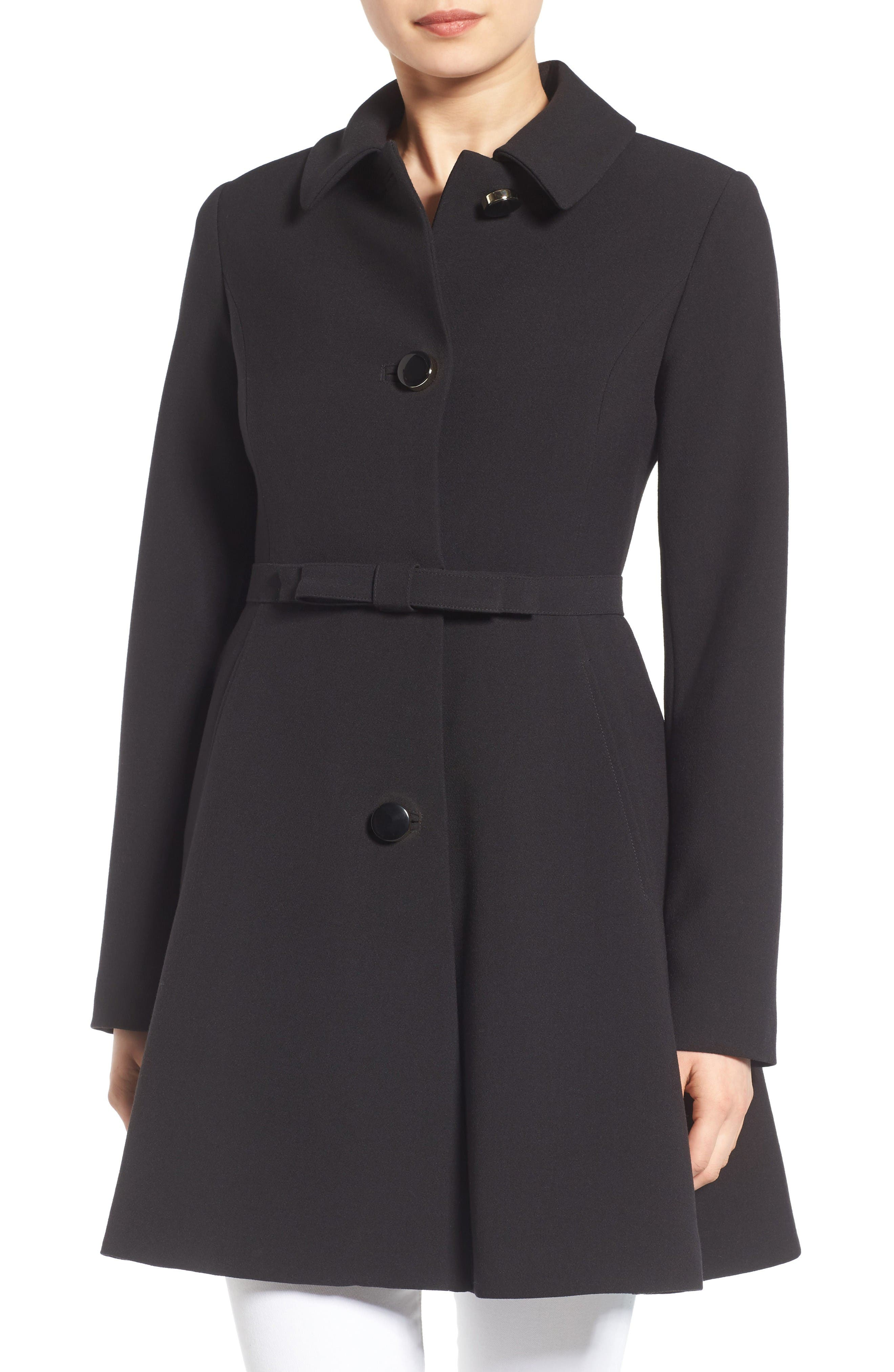 Main Image - kate spade fit & flare coat