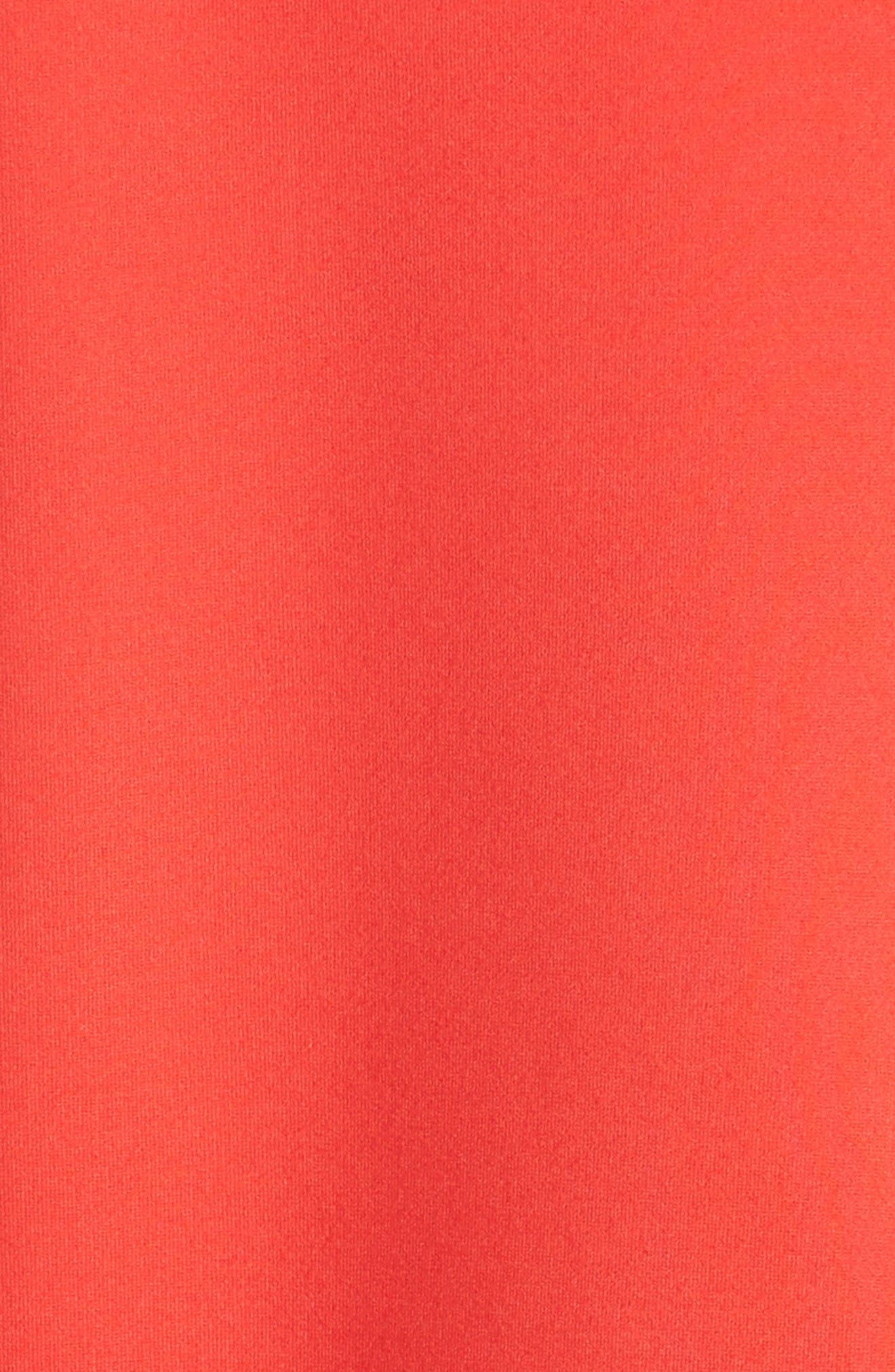 Funnel Neck Top,                             Alternate thumbnail 6, color,                             Elia Red