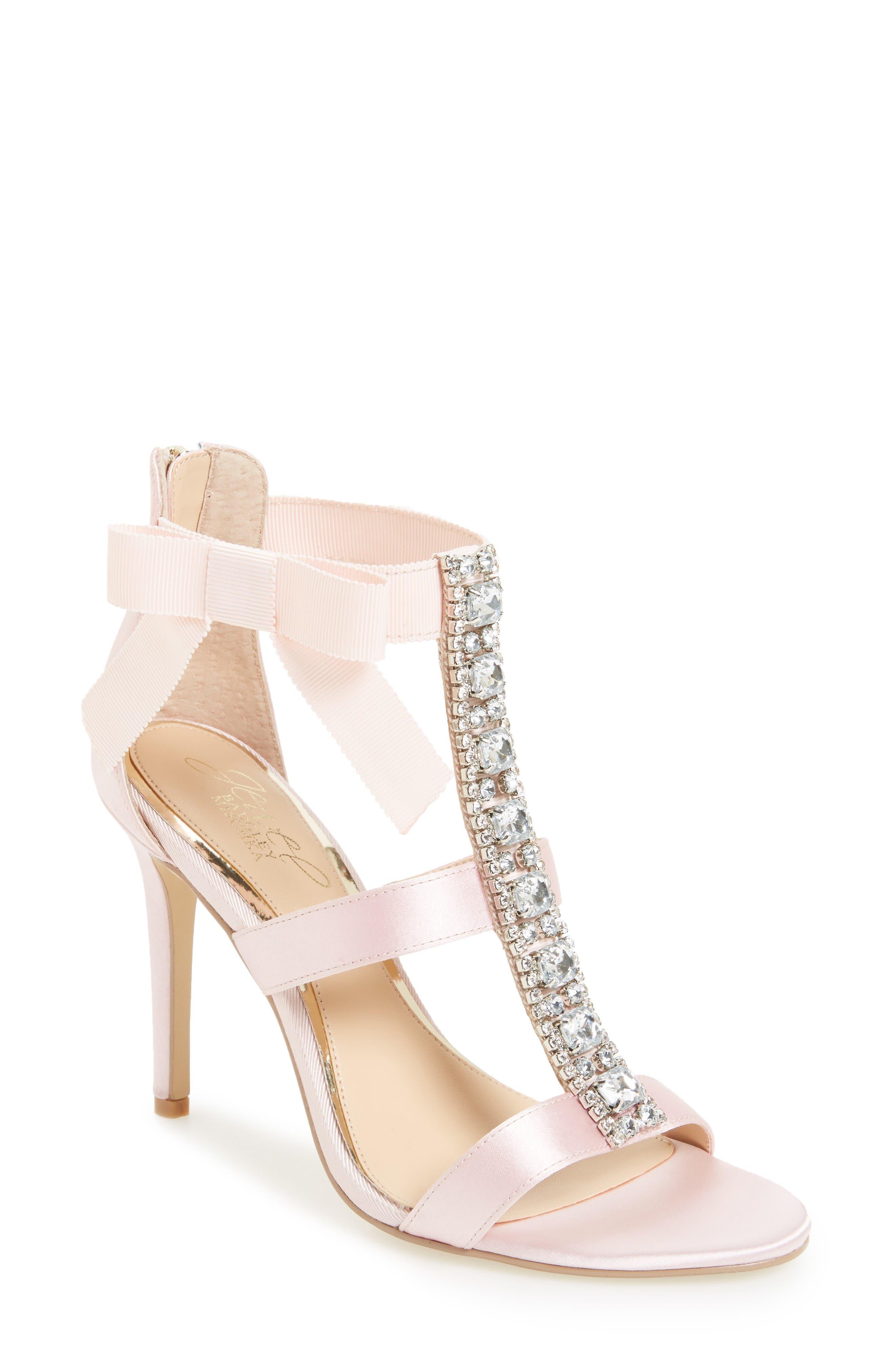 Alternate Image 1 Selected - Jewel Badgley Mischka Henderson Embellished Bow Sandal (Women)