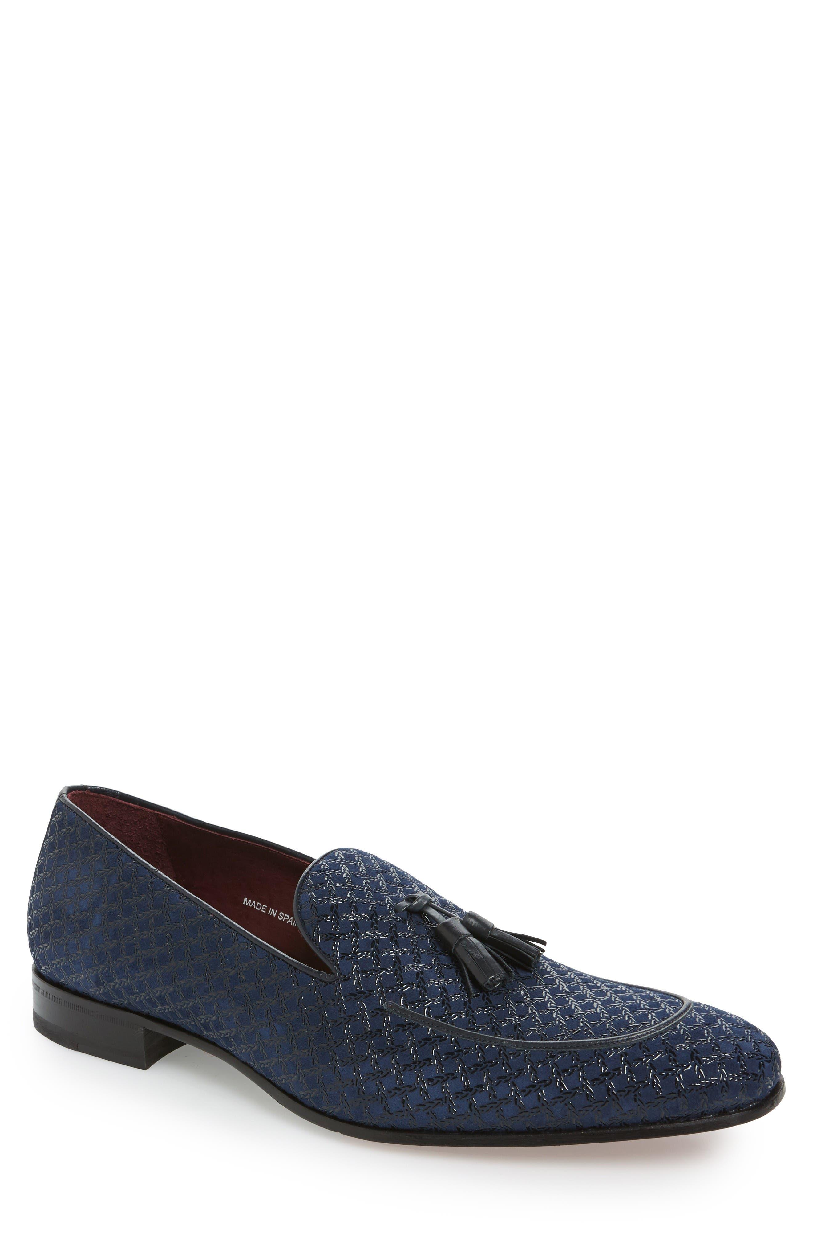 'Carol' Tassel Loafer,                         Main,                         color, Blue Suede