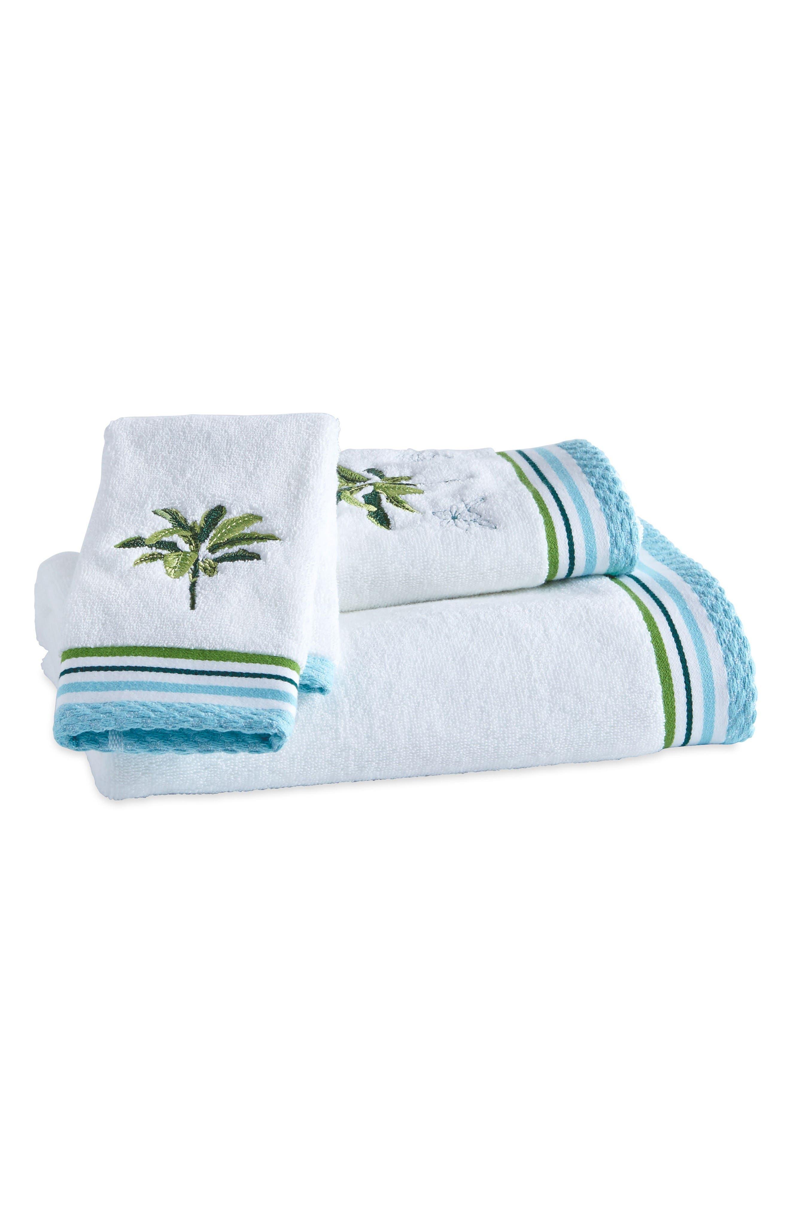 Alternate Image 1 Selected - Destinations Tropical Palm Bath Towel, Hand Towel and Washcloth Set