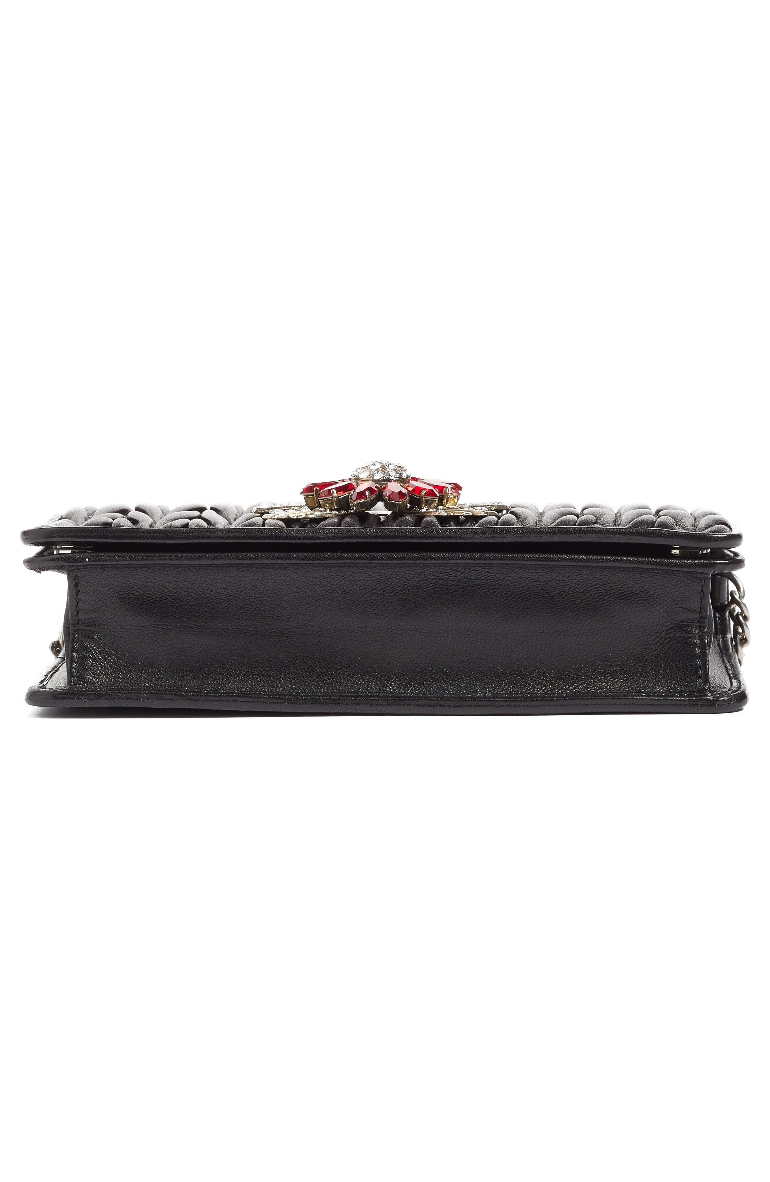 Alternate Image 5  - Miu Miu Delice Matelassé Leather Wallet on a Chain