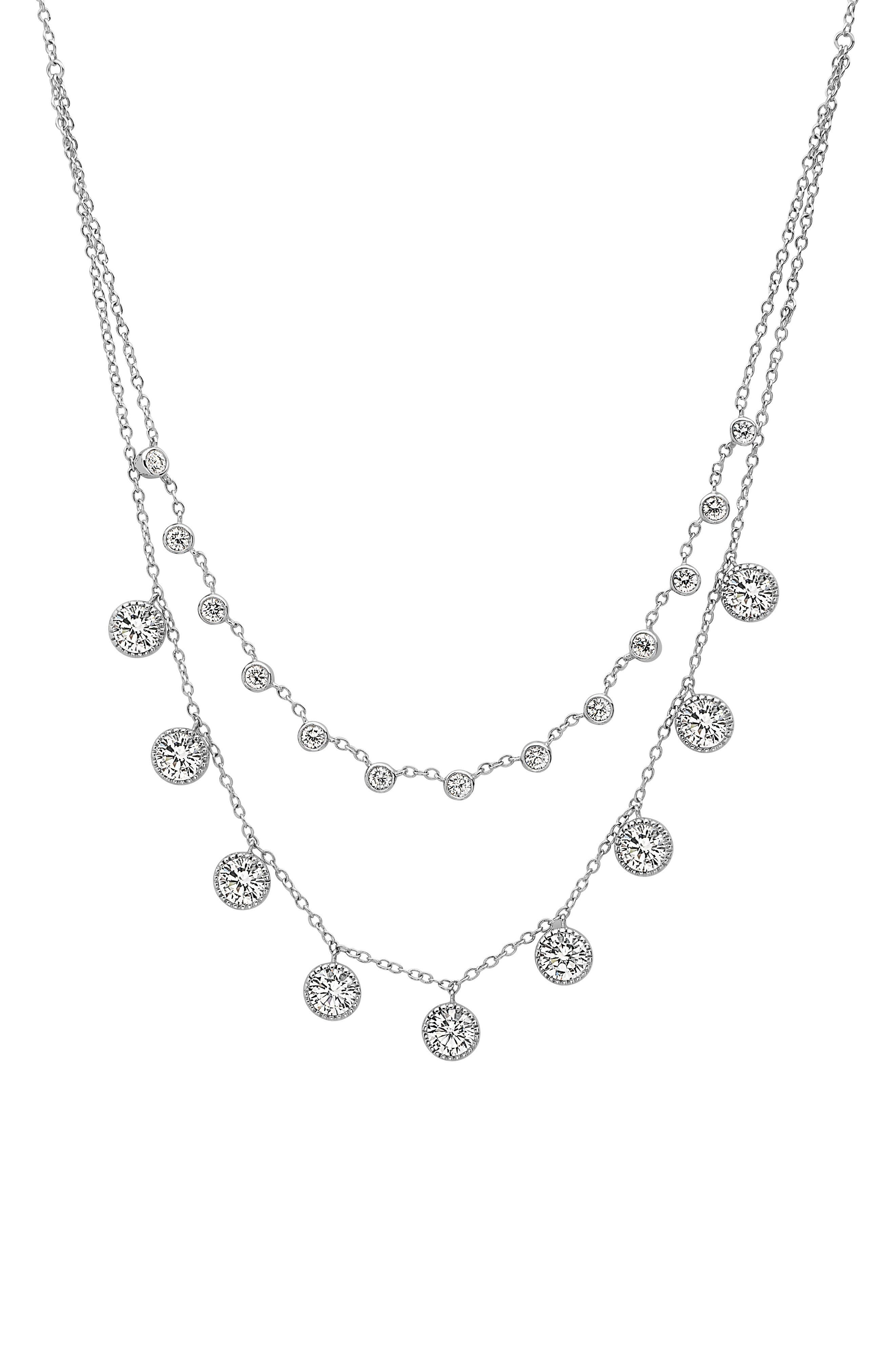 Frontal Necklace,                         Main,                         color, Silver