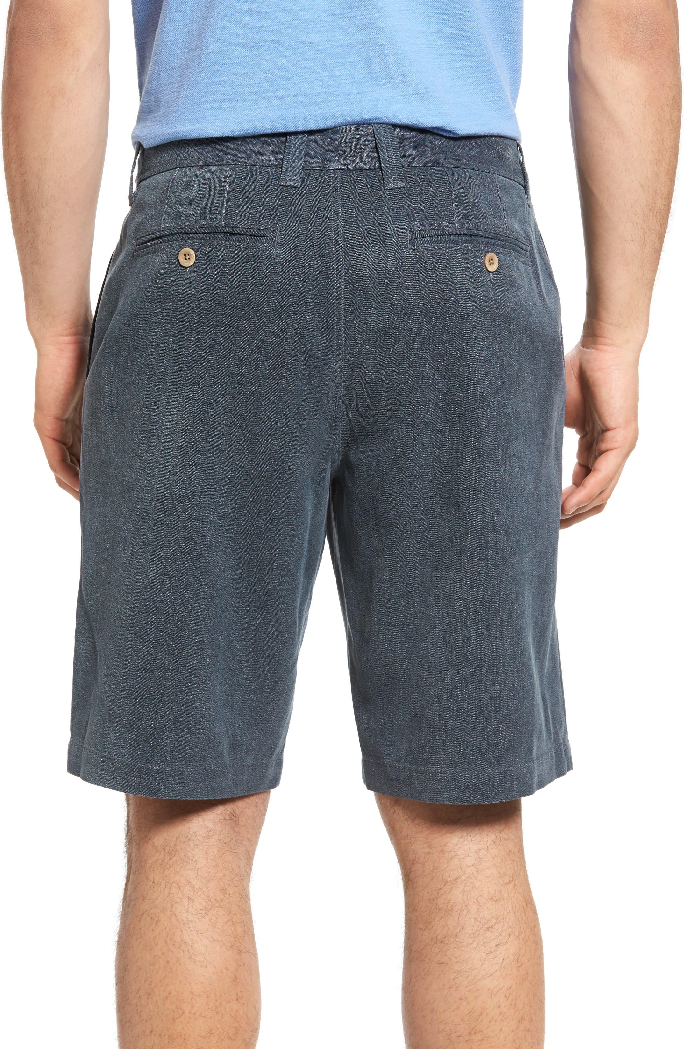 Alternate Image 2  - Tommy Bahama Havana Herringbone Silk Blend Chino Shorts