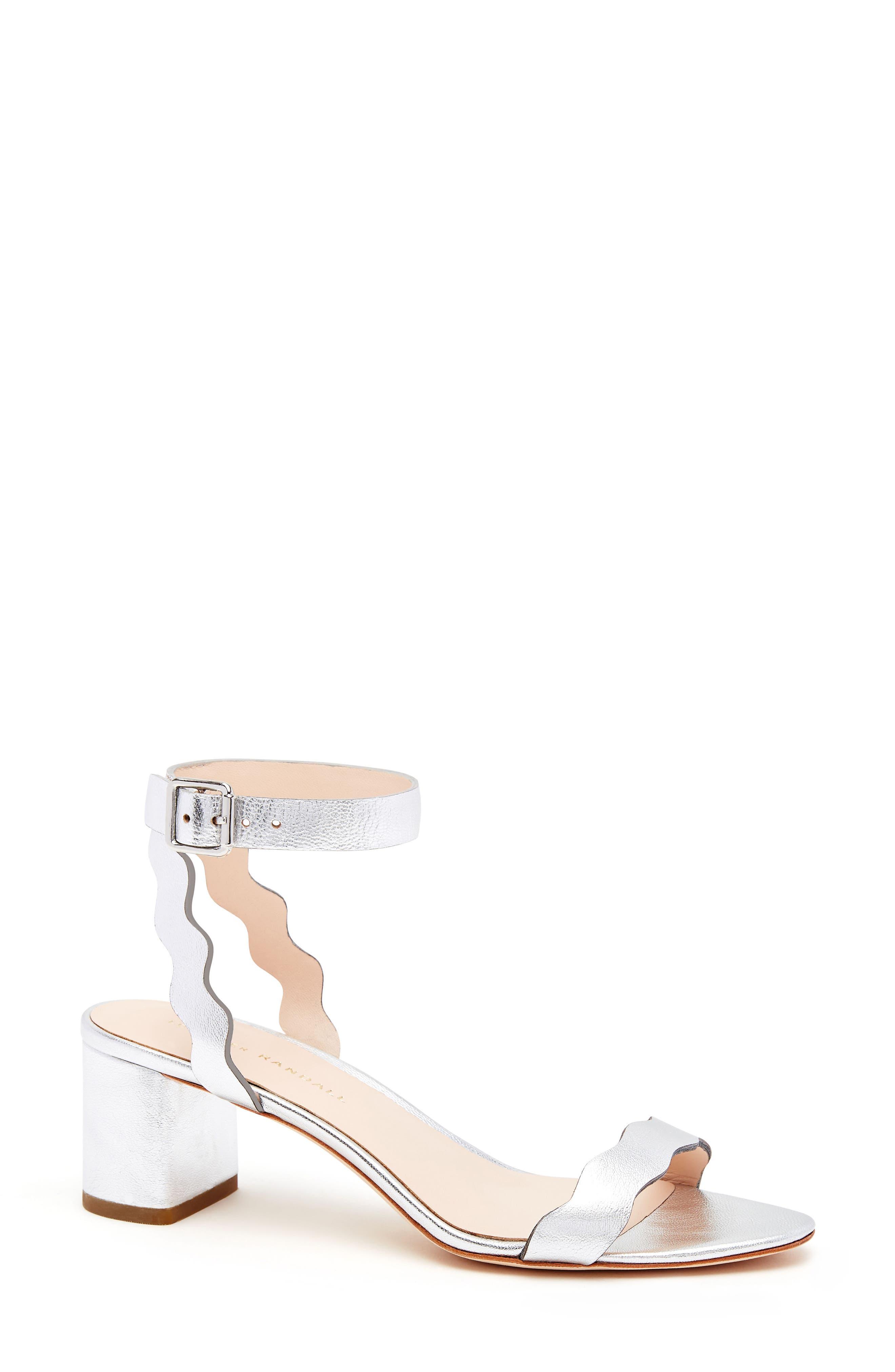 Alternate Image 1 Selected - Loeffler Randall Emi Scalloped Sandal (Women)