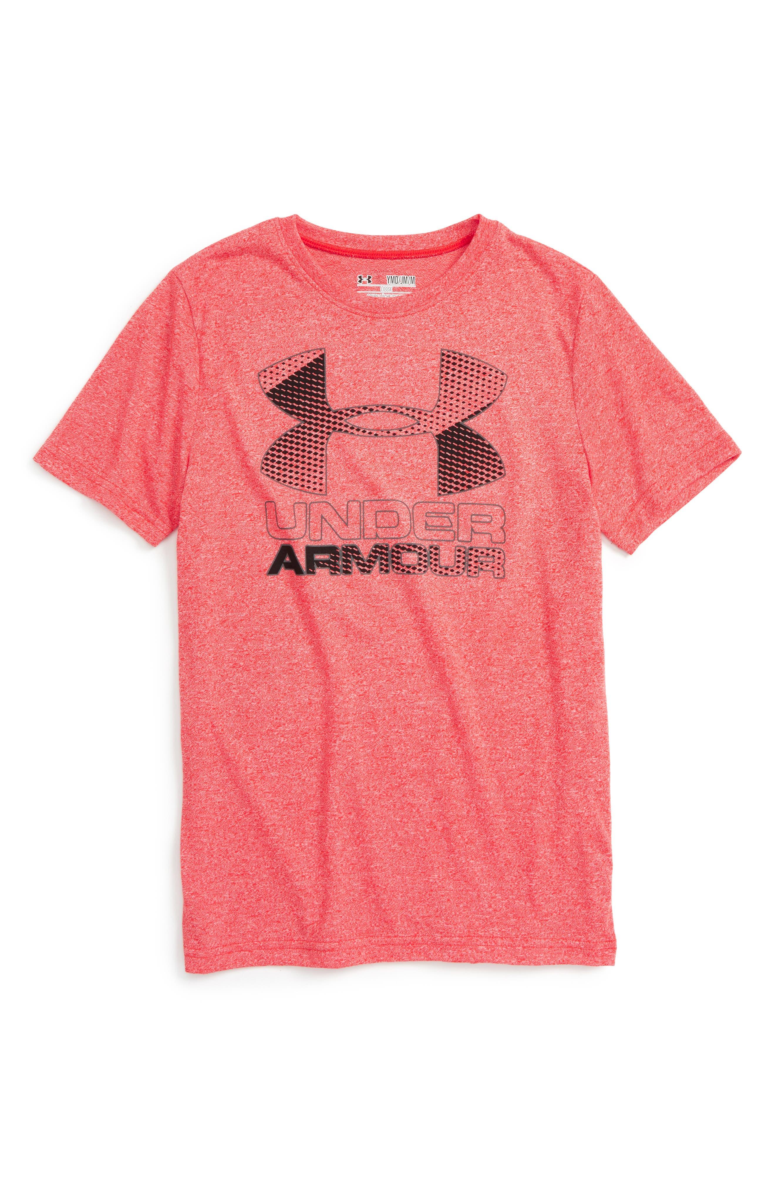 Alternate Image 1 Selected - Under Armour Big Logo Hybrid 2.0 HeatGear® T-Shirt (Little Boys & Big Boys)