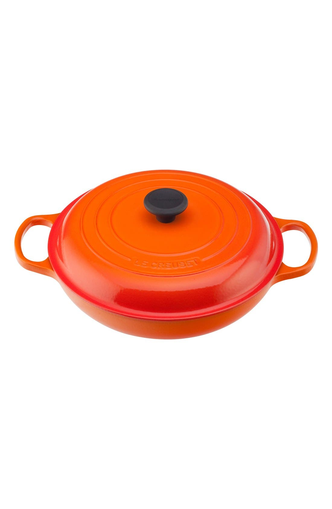 Signature 3 3/4 Quart Enameled Cast Iron Braiser,                             Main thumbnail 1, color,                             Flame