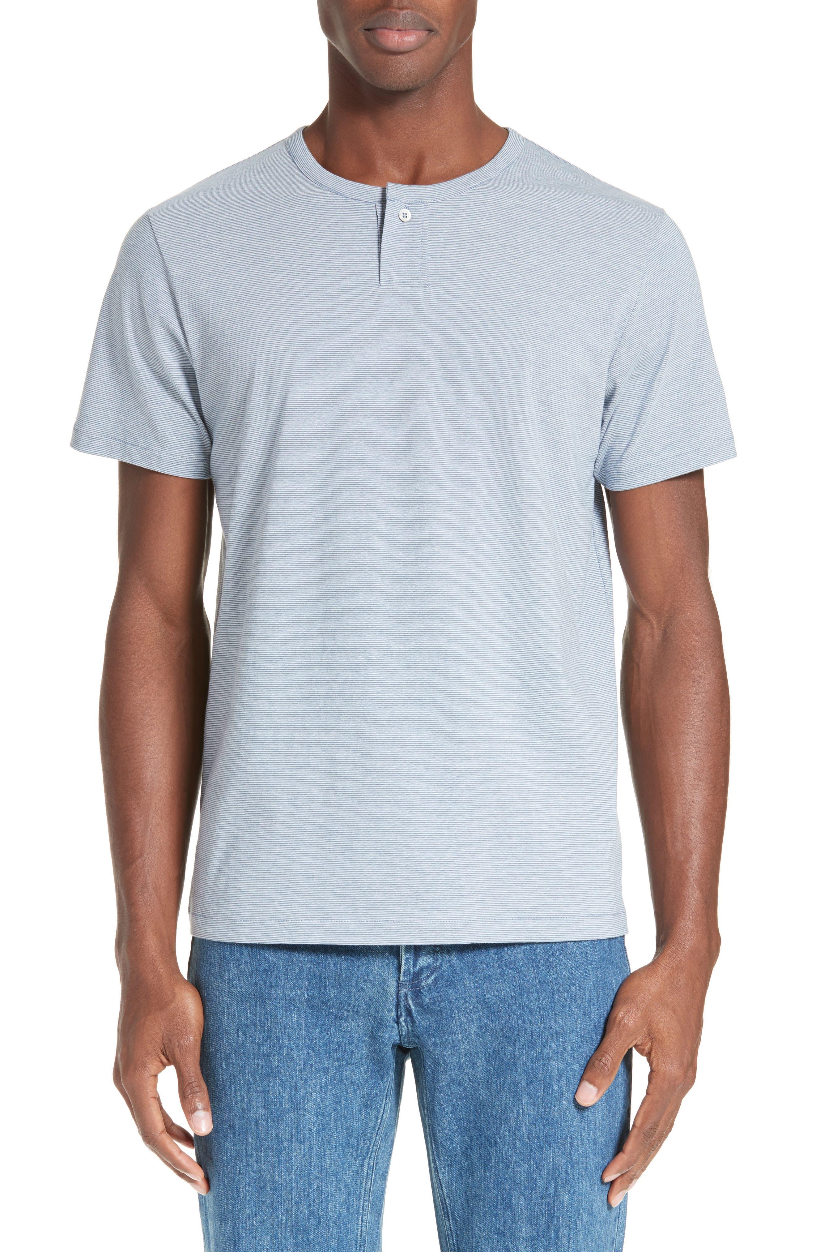 Eric Stripe Henley T-Shirt,                         Main,                         color, Blue