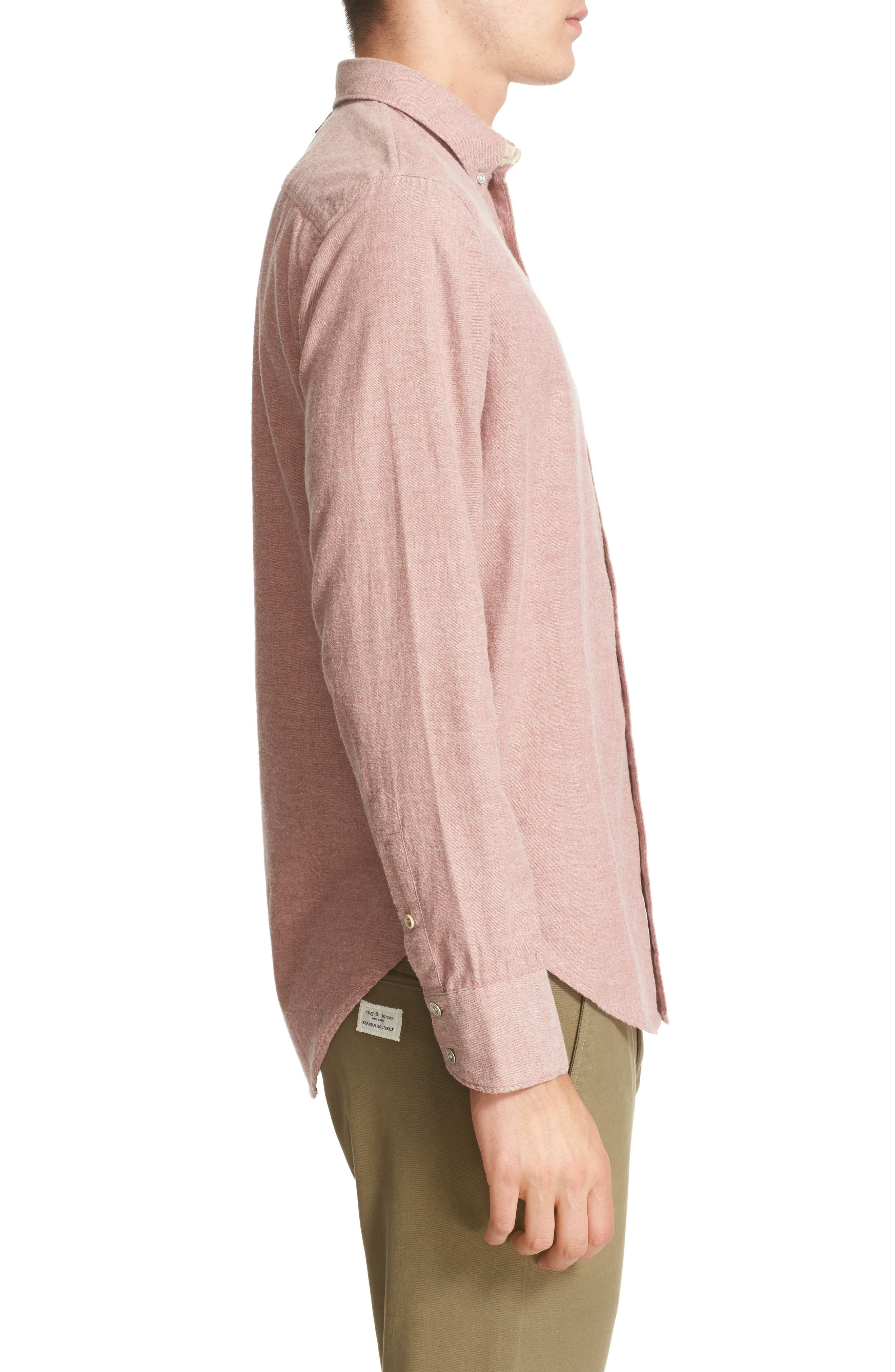 Standard Issue Trim Fit Sport Shirt,                             Alternate thumbnail 4, color,                             Pink