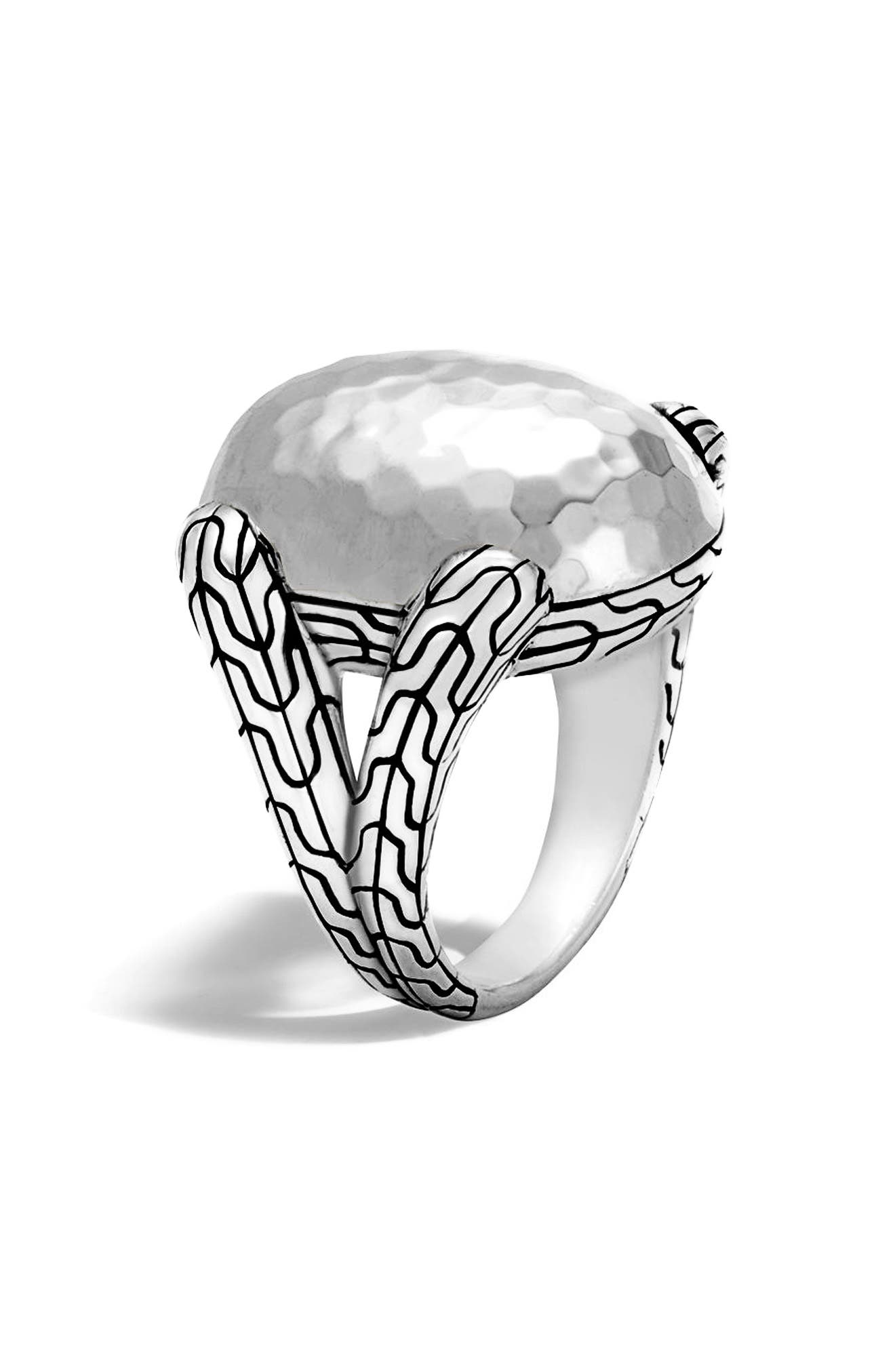 Classic Chain Dome Ring,                             Main thumbnail 1, color,                             Silver