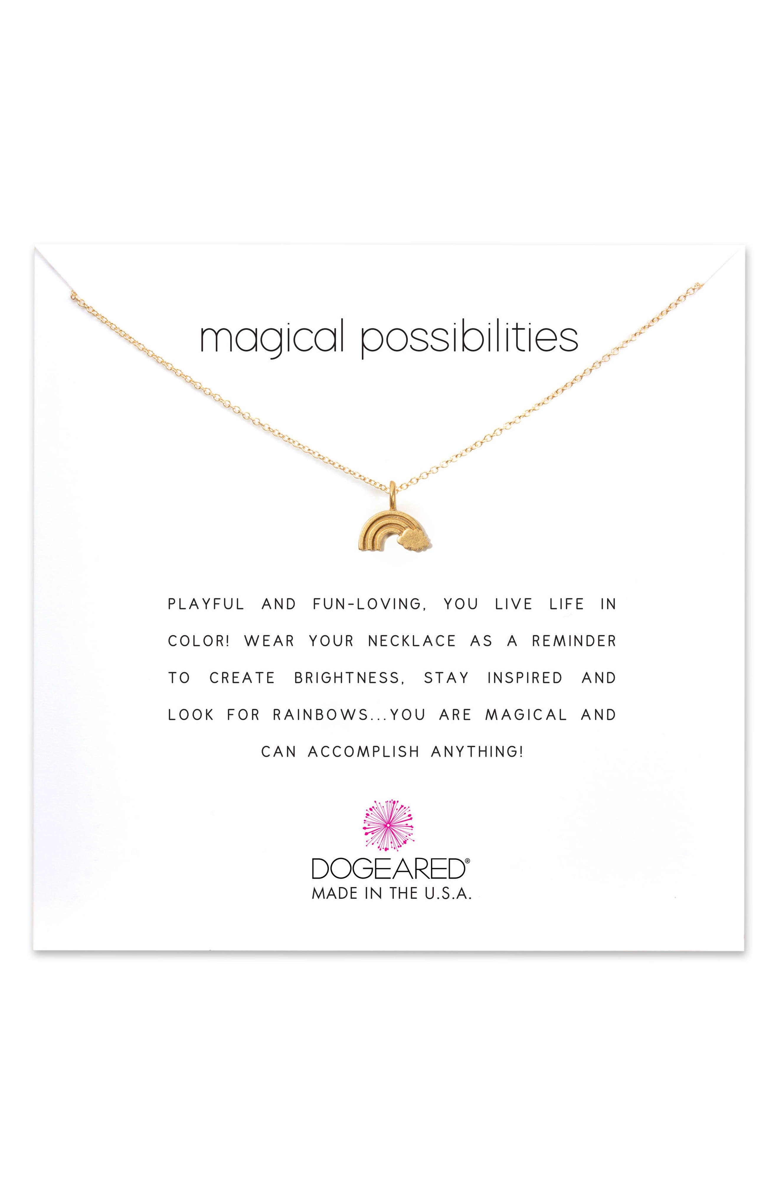 DOGEARED Reminder - Magical Possibilities Pendant Necklace