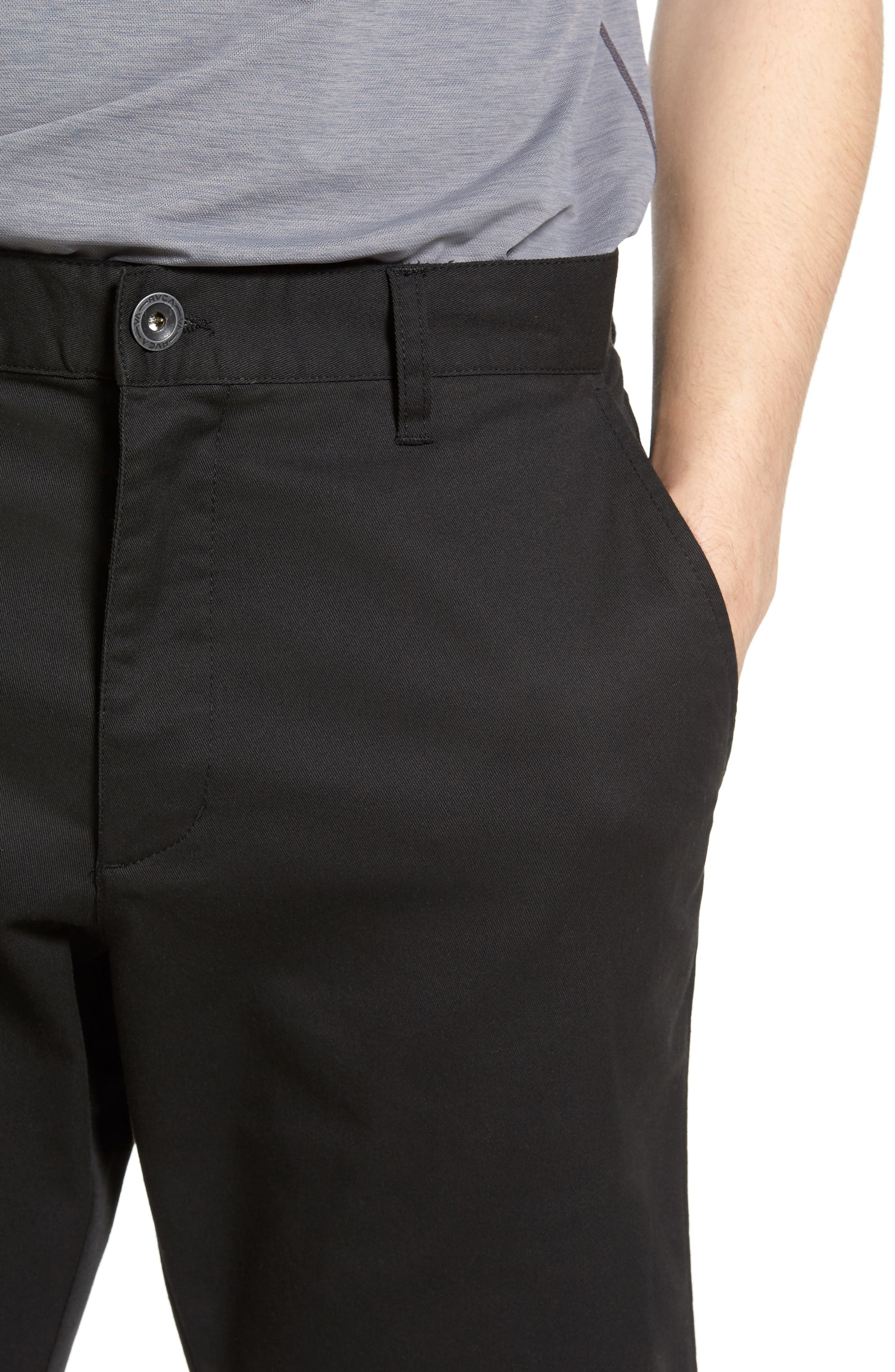 Alternate Image 4  - RVCA The Week-End Stretch Twill Chino Shorts
