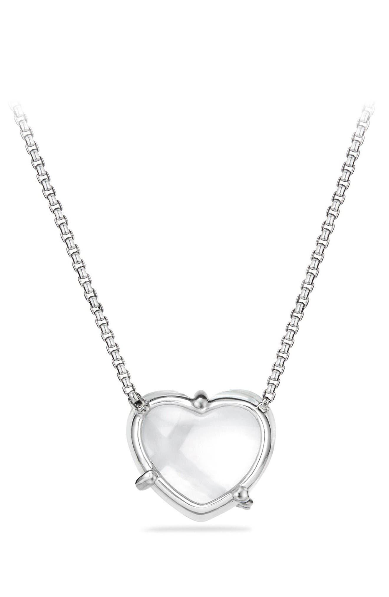 Alternate Image 2  - David Yurman Le Petite Coeur Sculpted Heart Chain Necklace with Diamonds