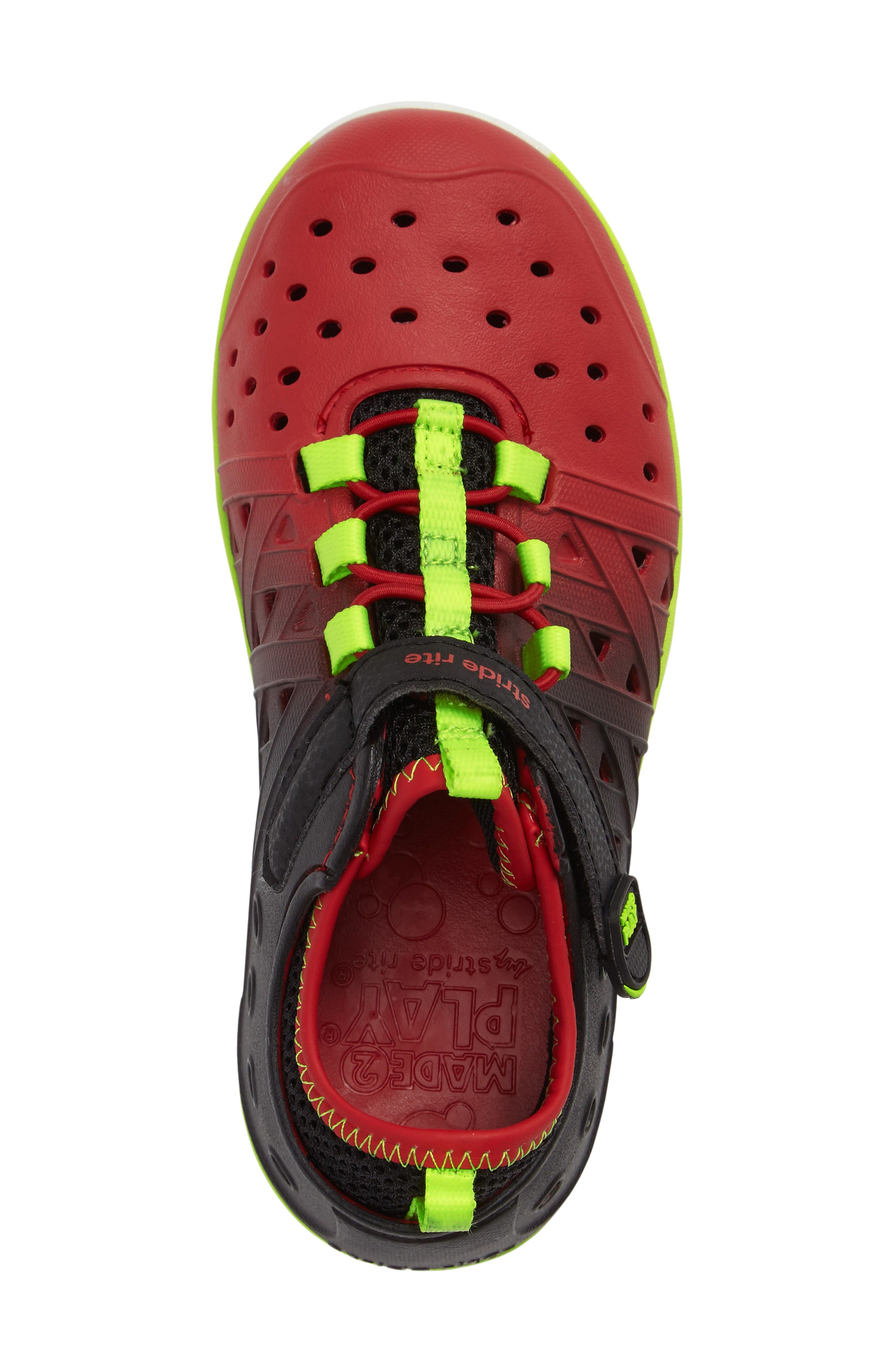Made2Play<sup>®</sup> Phibian Sneaker,                             Alternate thumbnail 3, color,                             Black/ Red